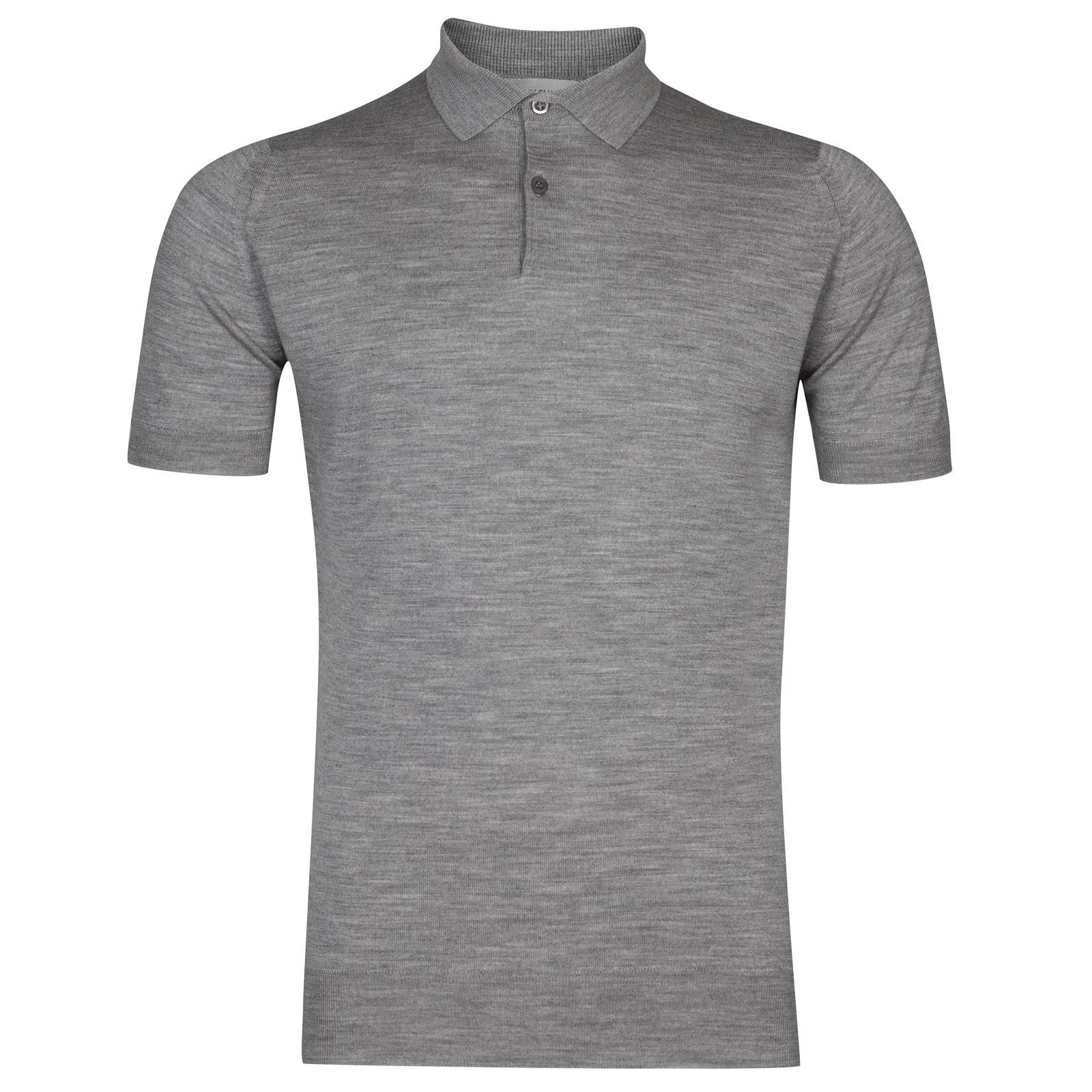 John Smedley payton Merino Wool Shirt in Silver-XXL