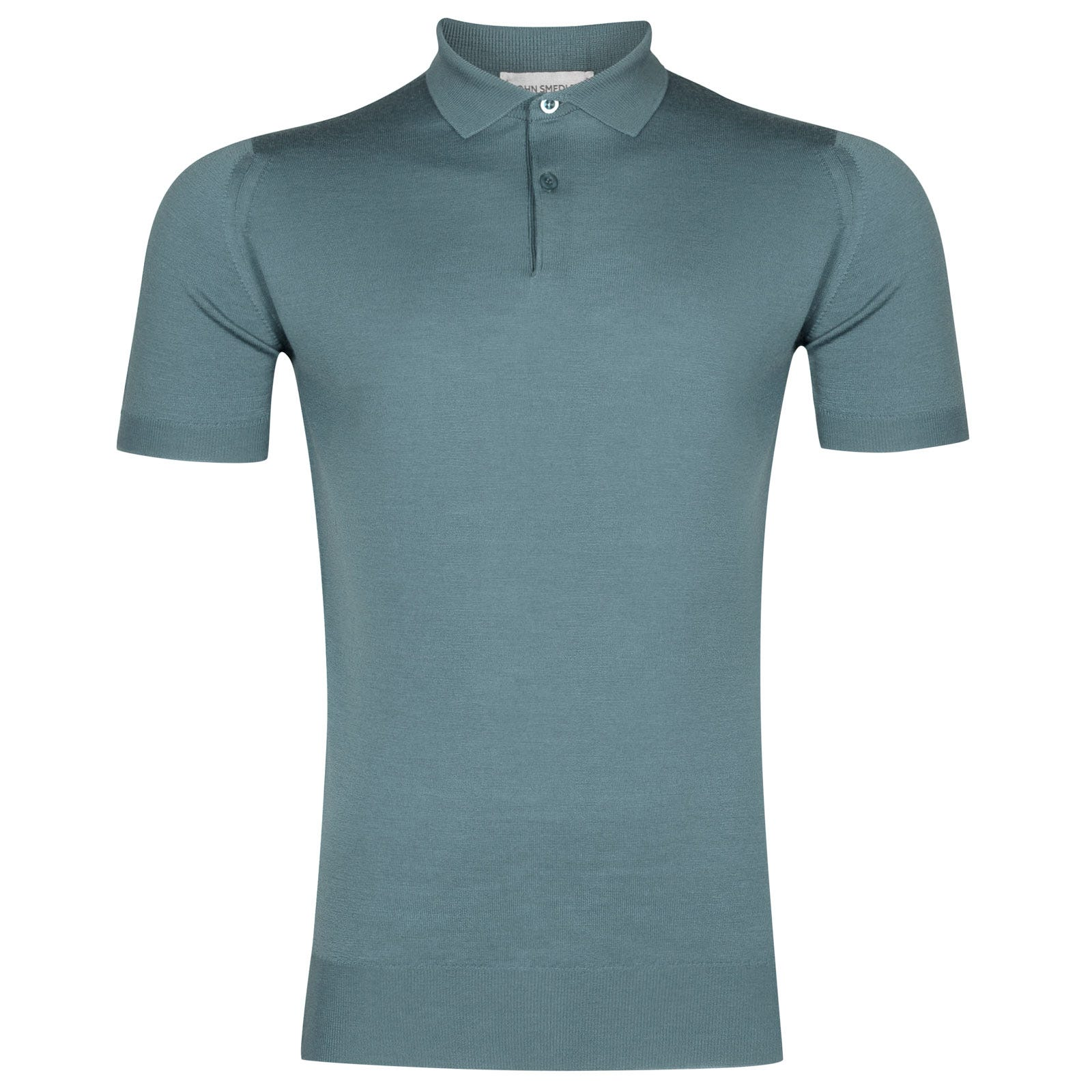 John Smedley payton Merino Wool Shirt in Summit Blue-M