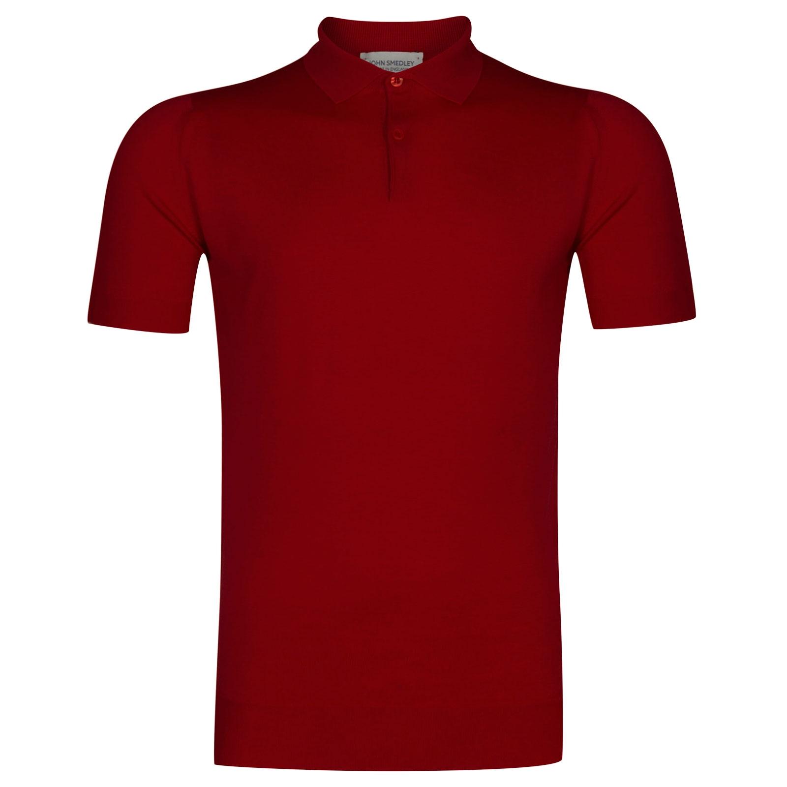 John Smedley Payton Merino Wool Shirt in Thermal Red-S