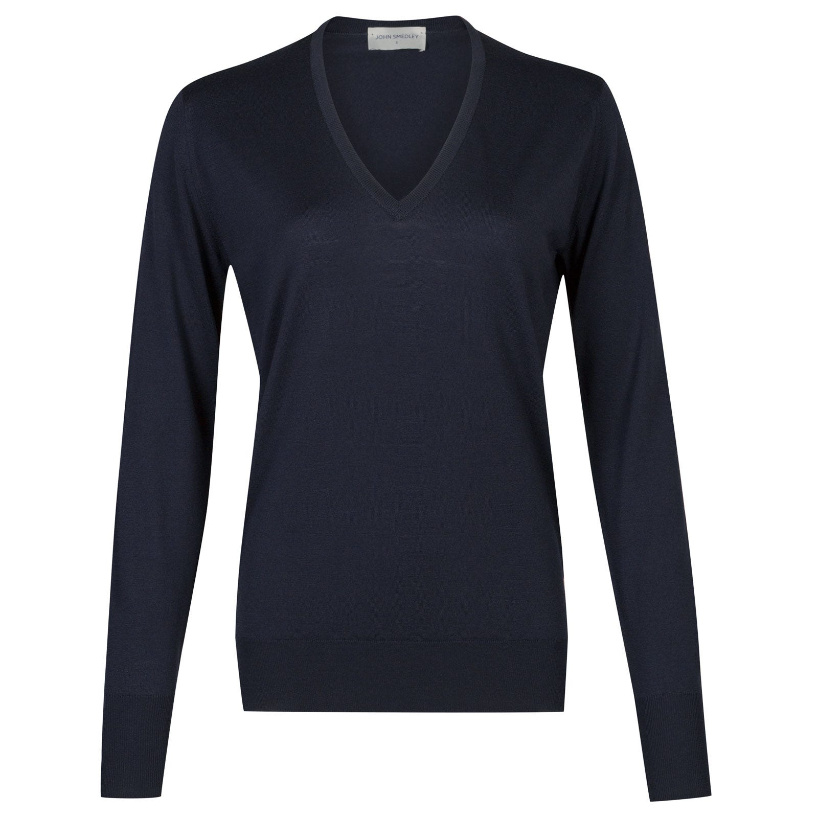 John Smedley Pepin Merino Wool Sweater in Midnight-S