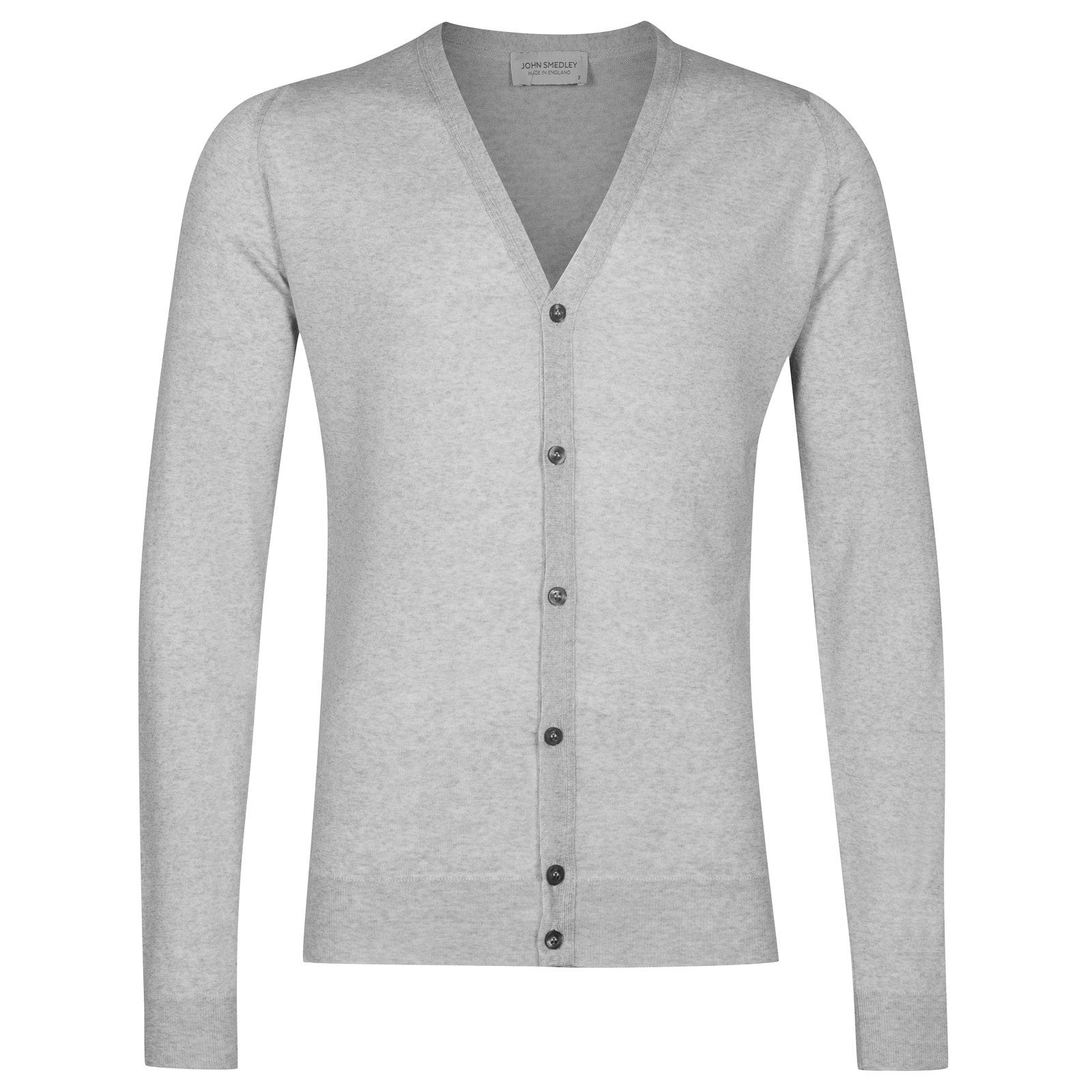 John Smedley petworth Merino Wool Cardigan in Bardot Grey-XXL