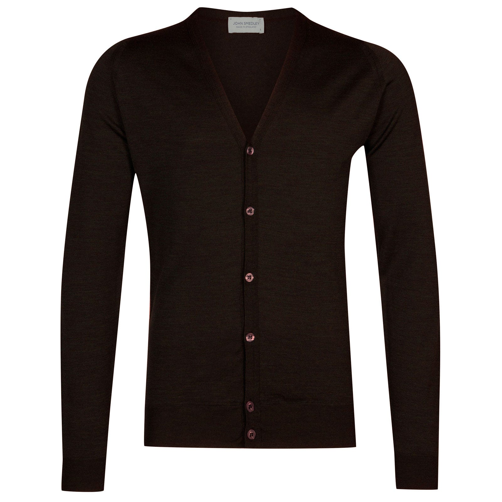 John Smedley petworth Merino Wool Cardigan in Chestnut-L