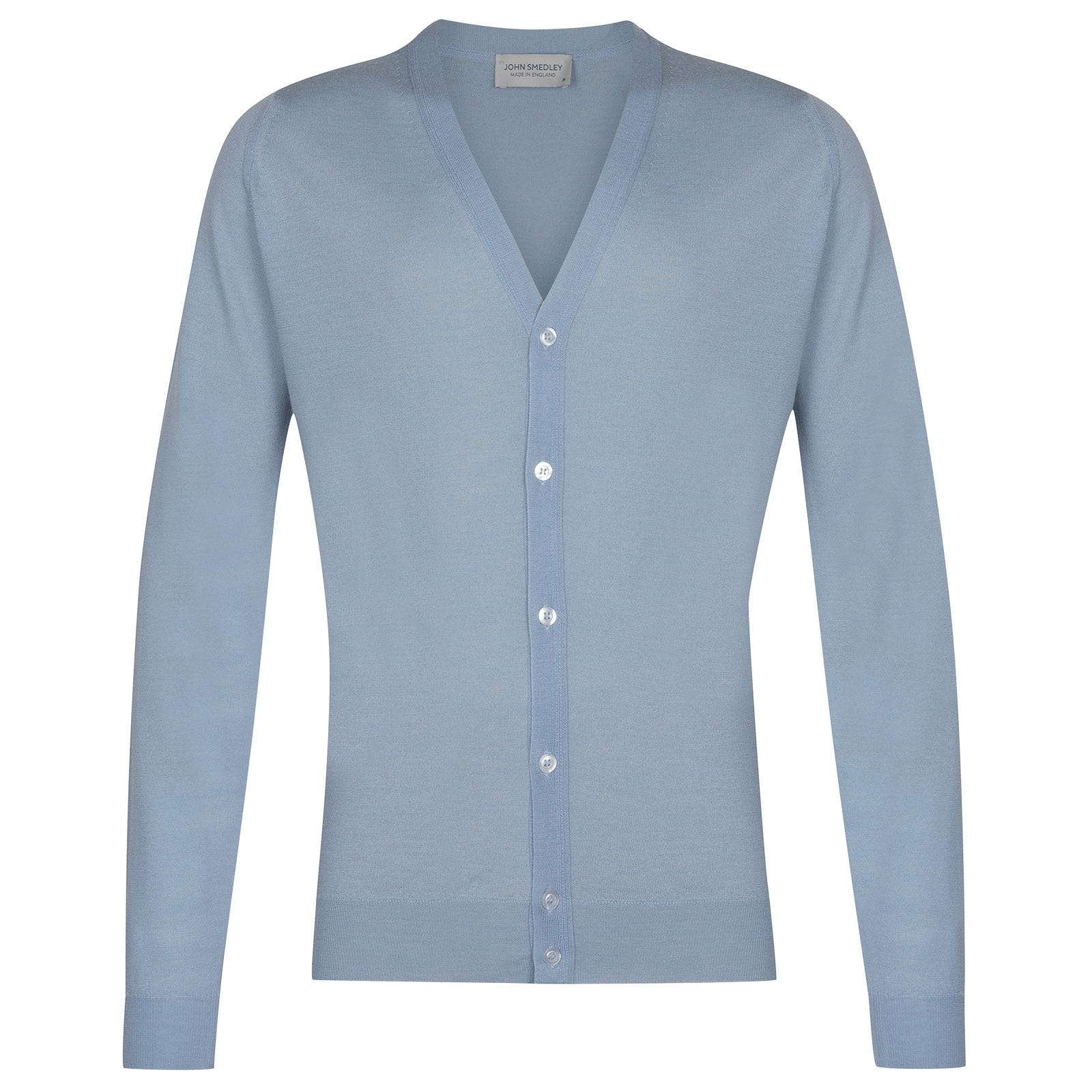 John Smedley Petworth in Dusk Blue Cardigan-LGE