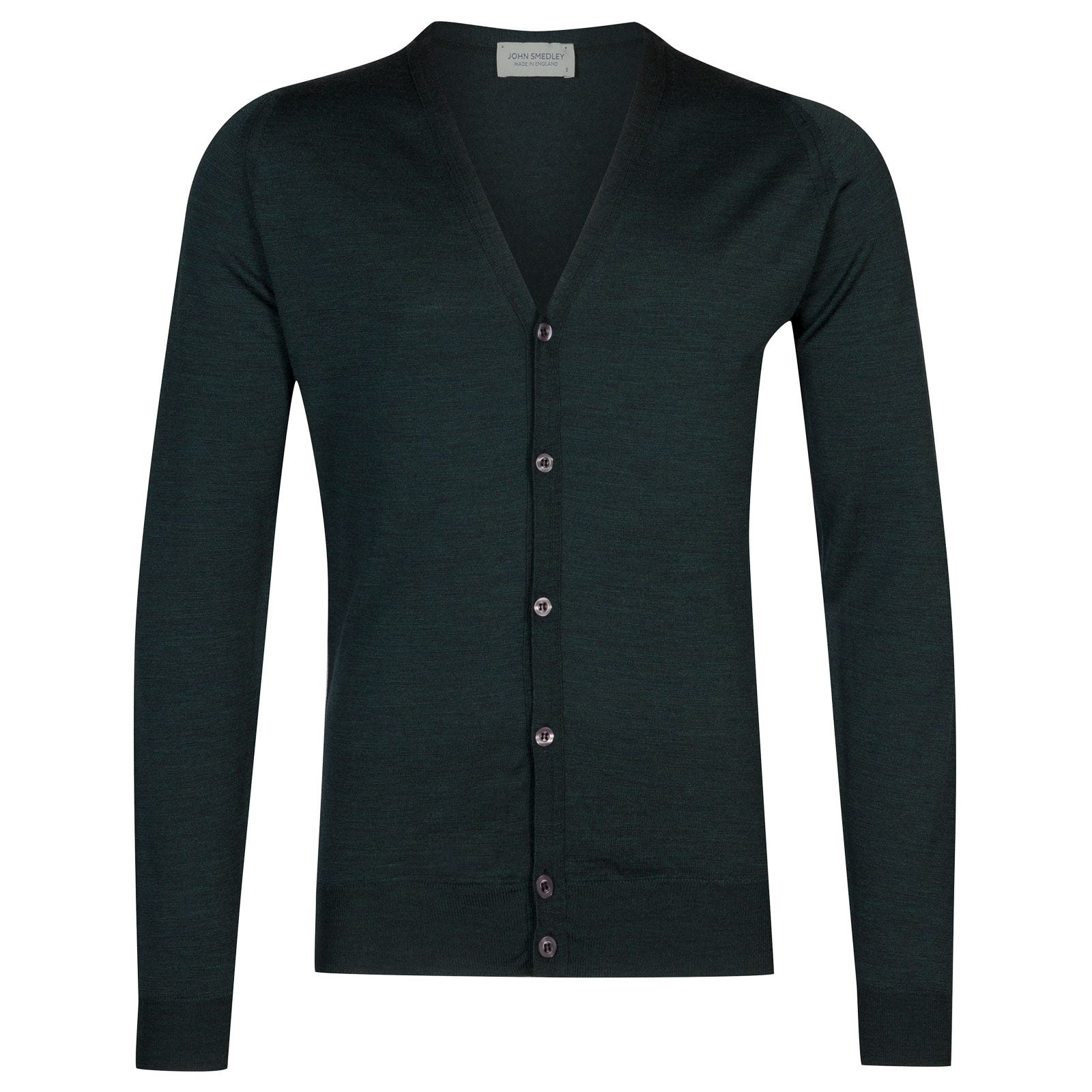 John Smedley petworth Merino Wool Cardigan in Racing Green-XL