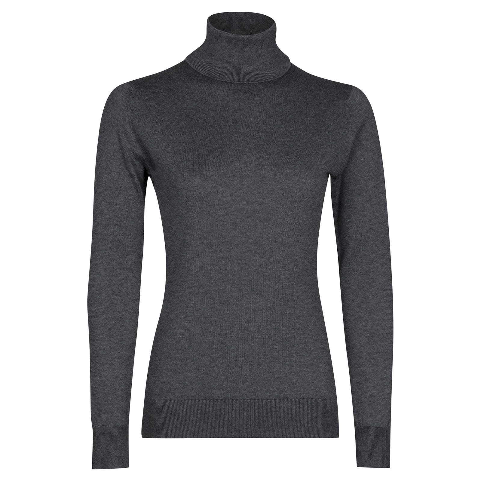 John Smedley pimlico Sea Island Cotton Sweater in Charcoal-M