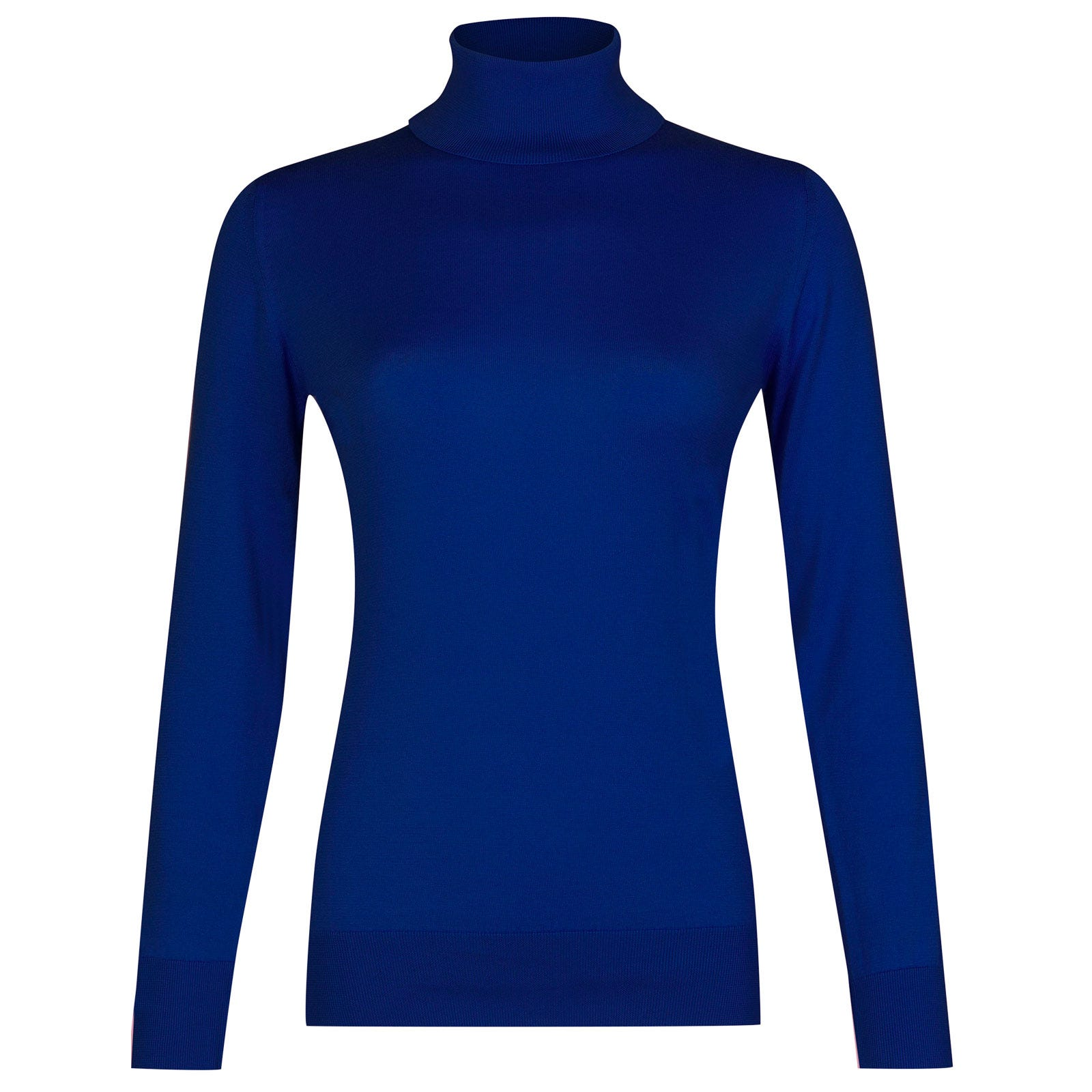 John Smedley pimlico Sea Island Cotton Sweater in Coniston Blue-M