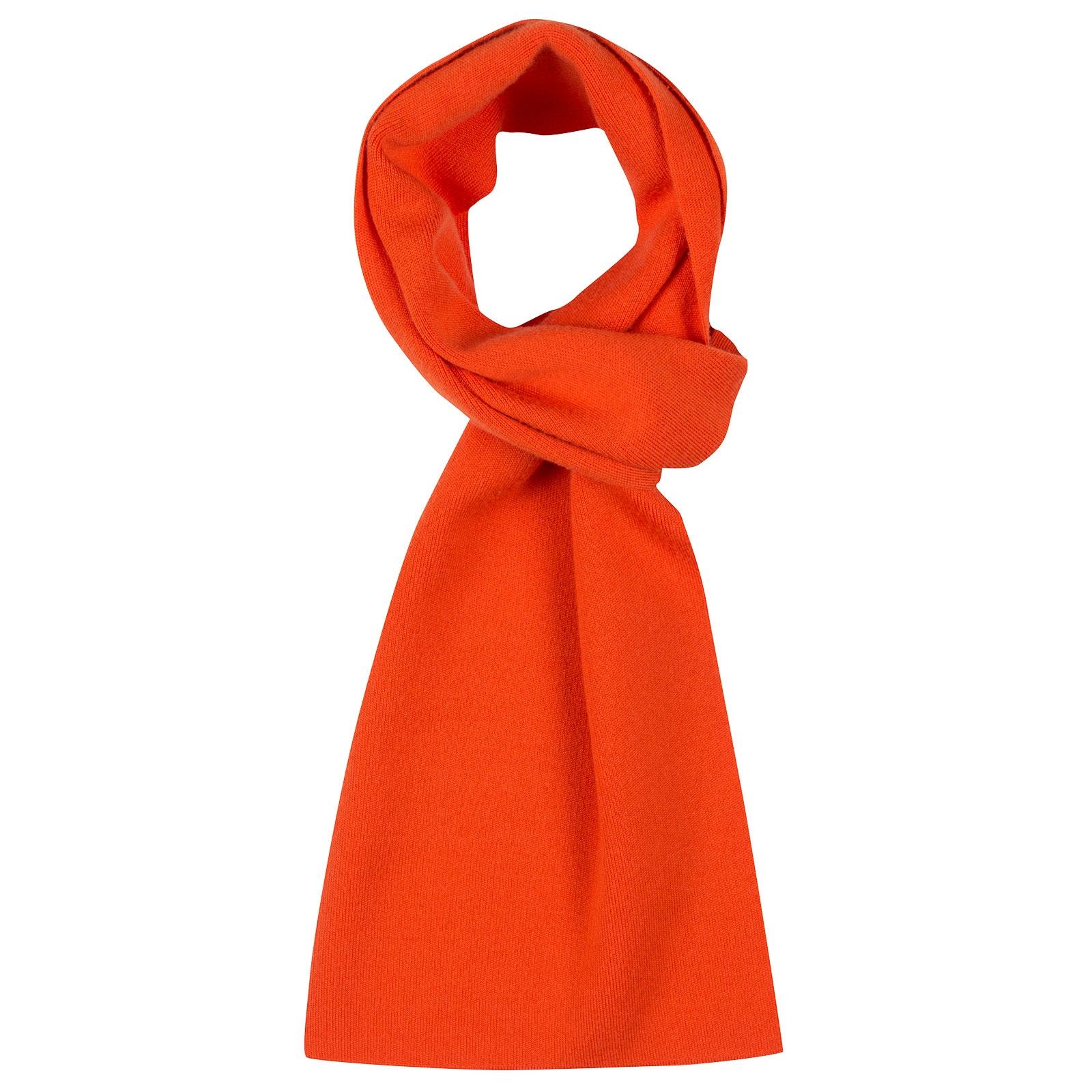 John Smedley pintail Merino Wool Scarf in Blaze Orange-ONE