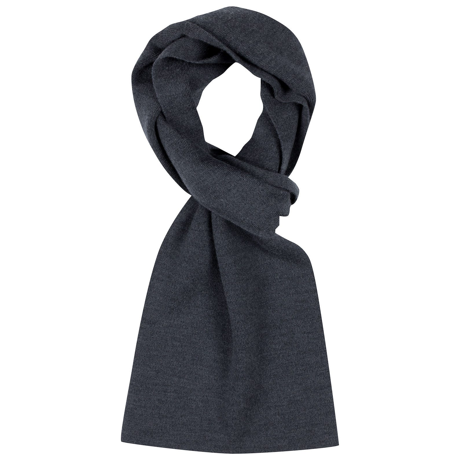 John Smedley pintail Merino Wool Scarf in Charcoal-ONE