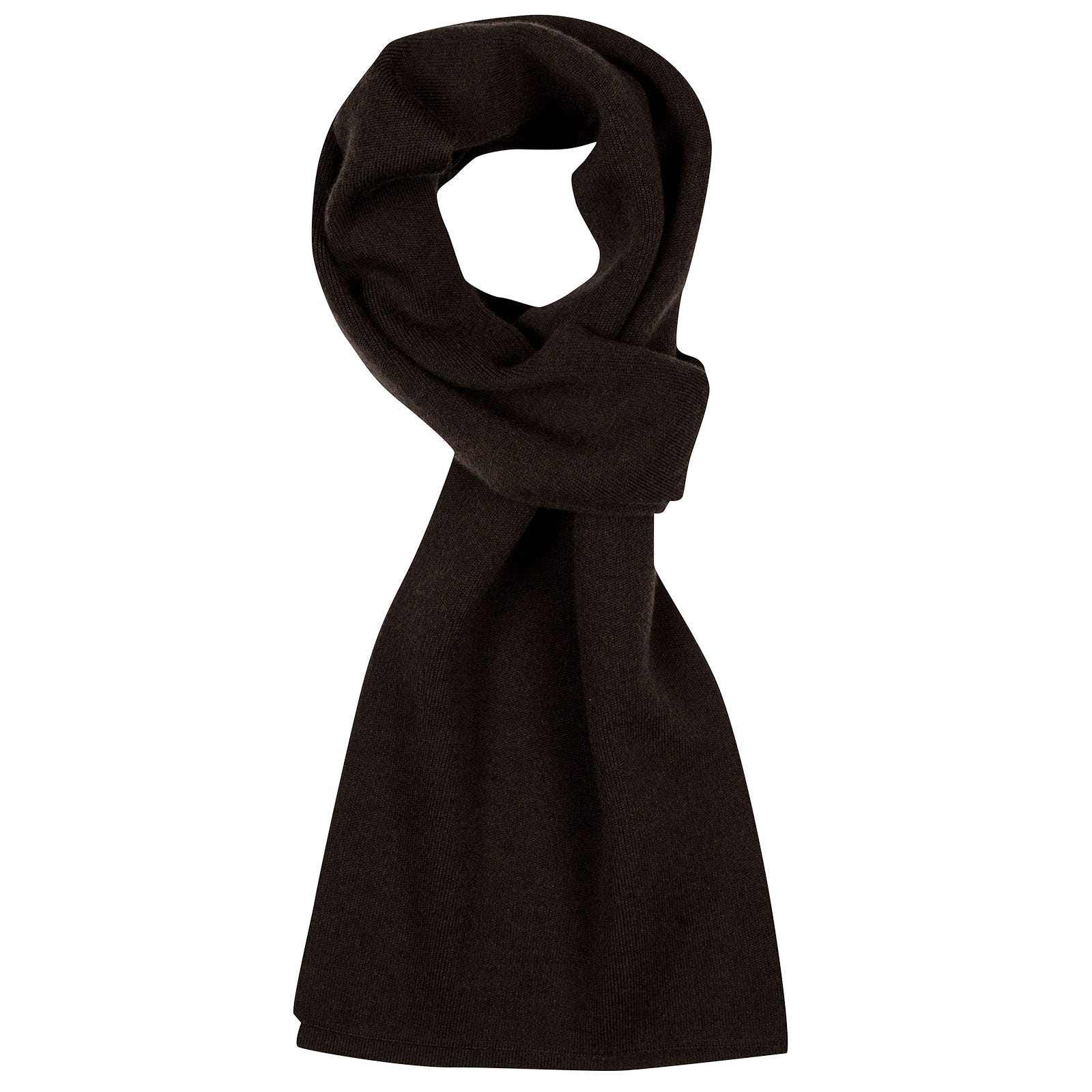 John Smedley pintail Merino Wool Scarf in Chestnut-ONE