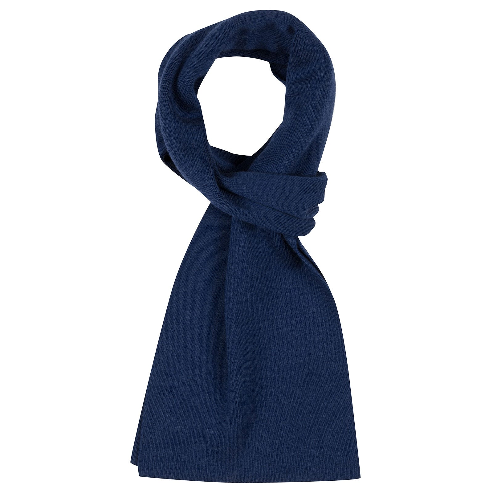 John Smedley pintail Merino Wool Scarf in Magnetic Cobalt-ONE