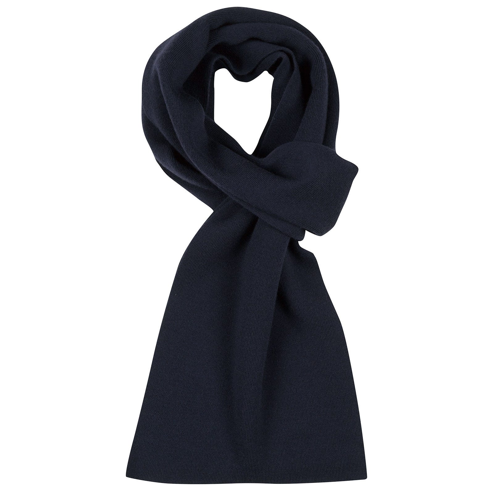 John Smedley pintail Merino Wool Scarf in Midnight-ONE