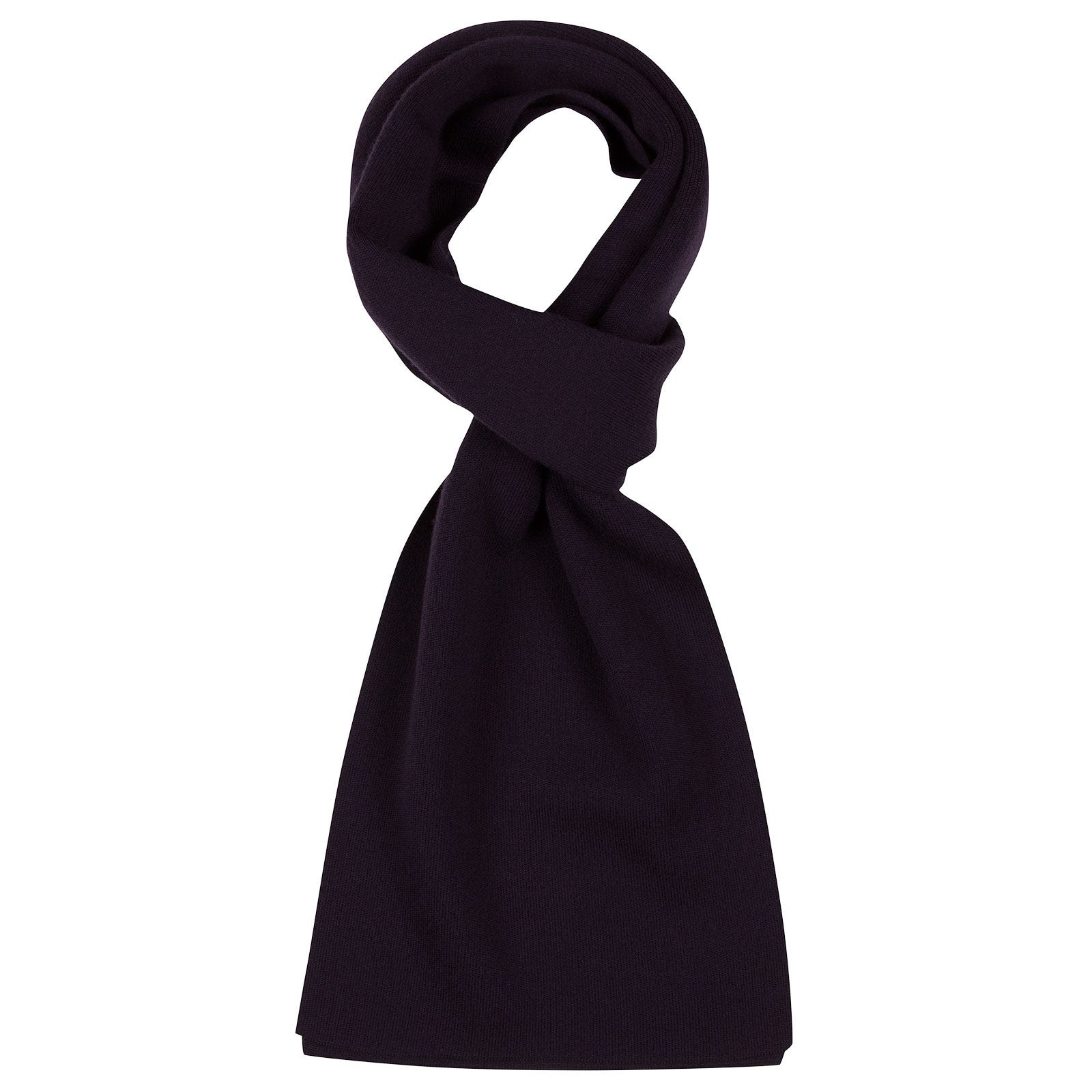 John Smedley pintail Merino Wool Scarf in Mystic Purple-ONE