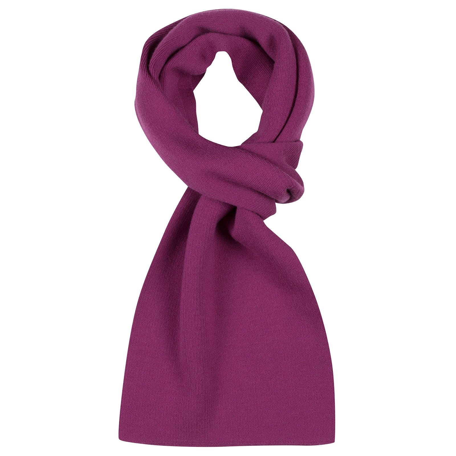 John Smedley pintail Merino Wool Scarf in Prism Violet-ONE