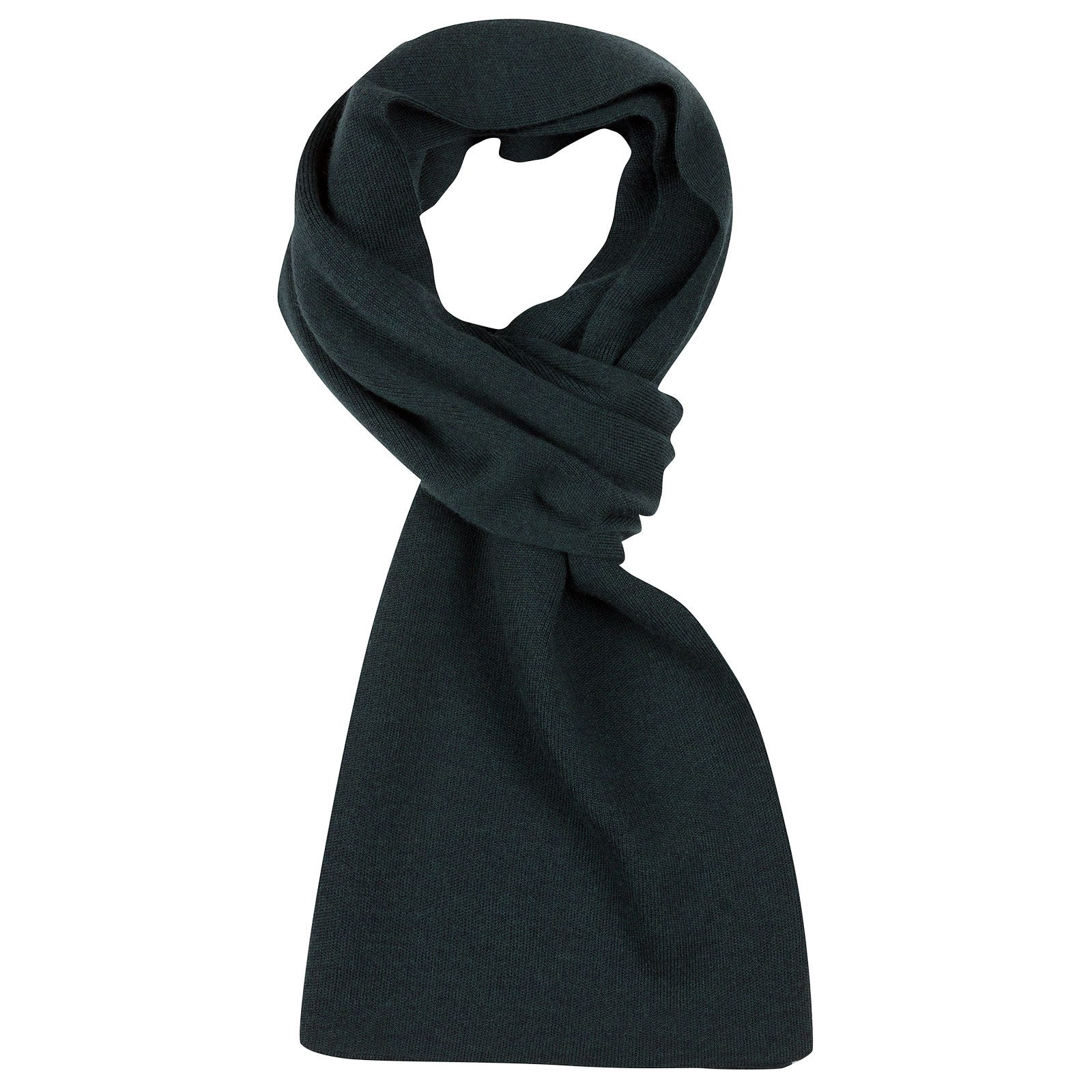 John Smedley pintail Merino Wool Scarf in Racing Green-ONE