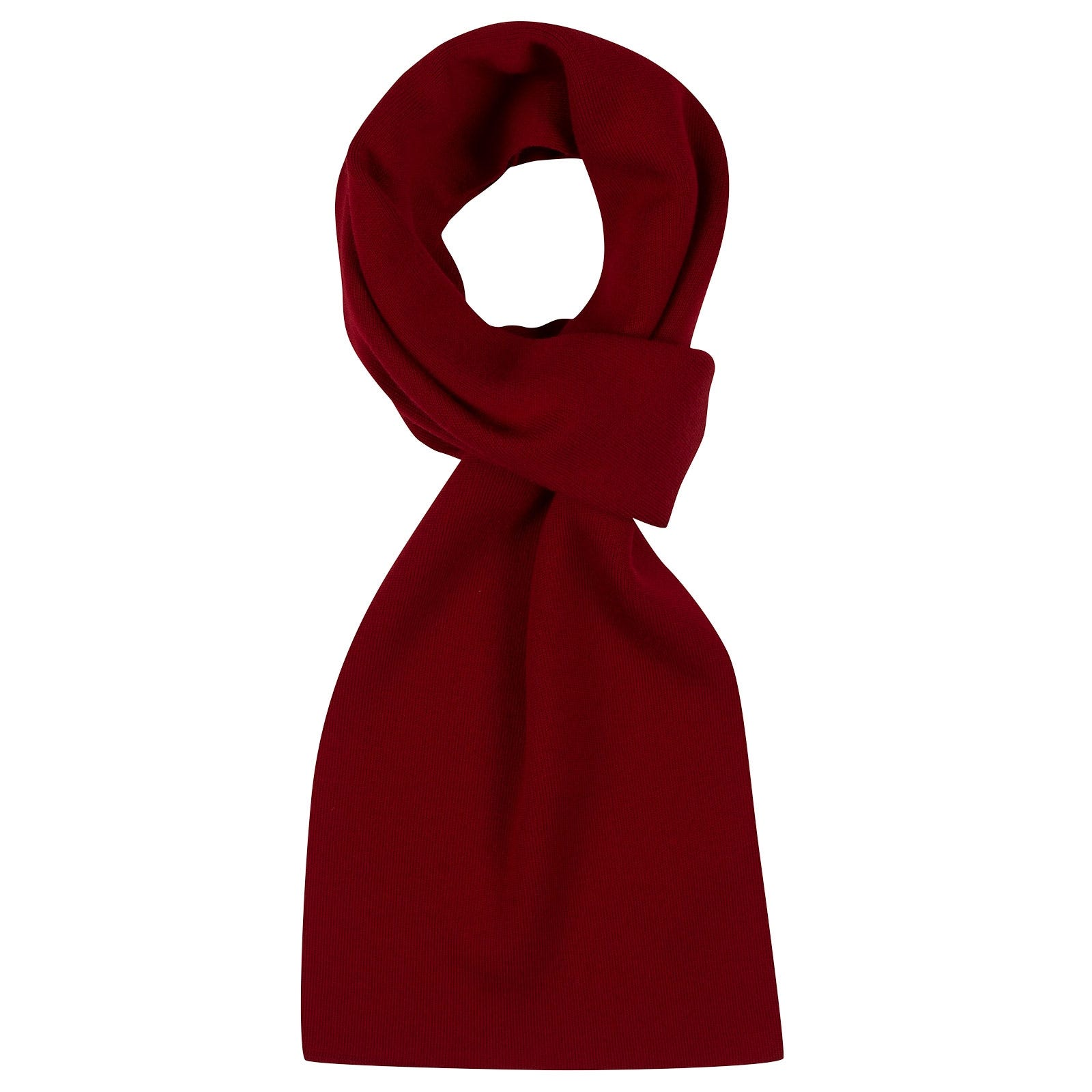 John Smedley pintail Merino Wool Scarf in Thermal Red-ONE