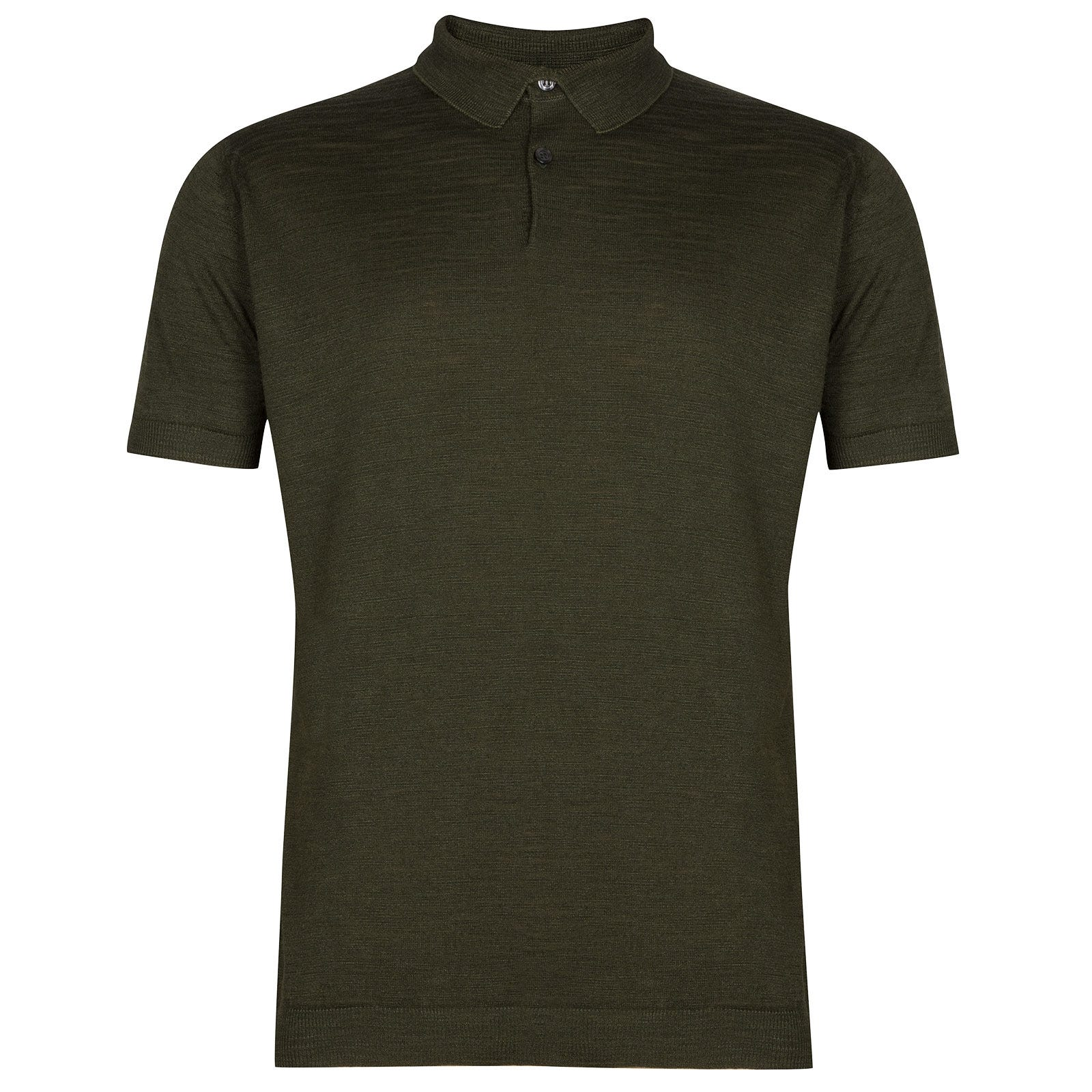 John Smedley Pirro in Sepal Green Shirt-XLG