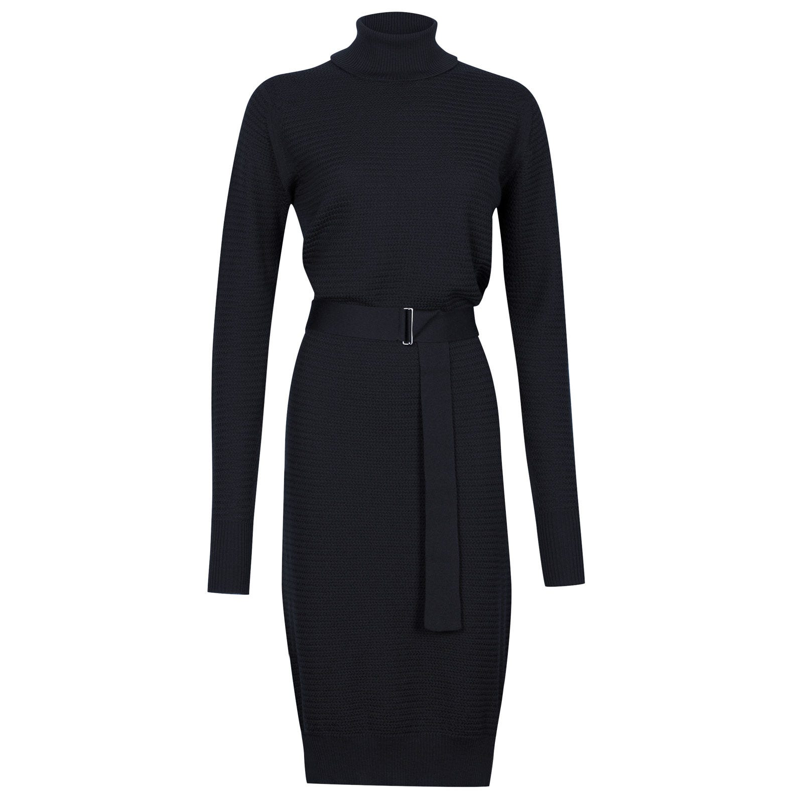 John Smedley Poplar Merino Wool Dress in Midnight-L