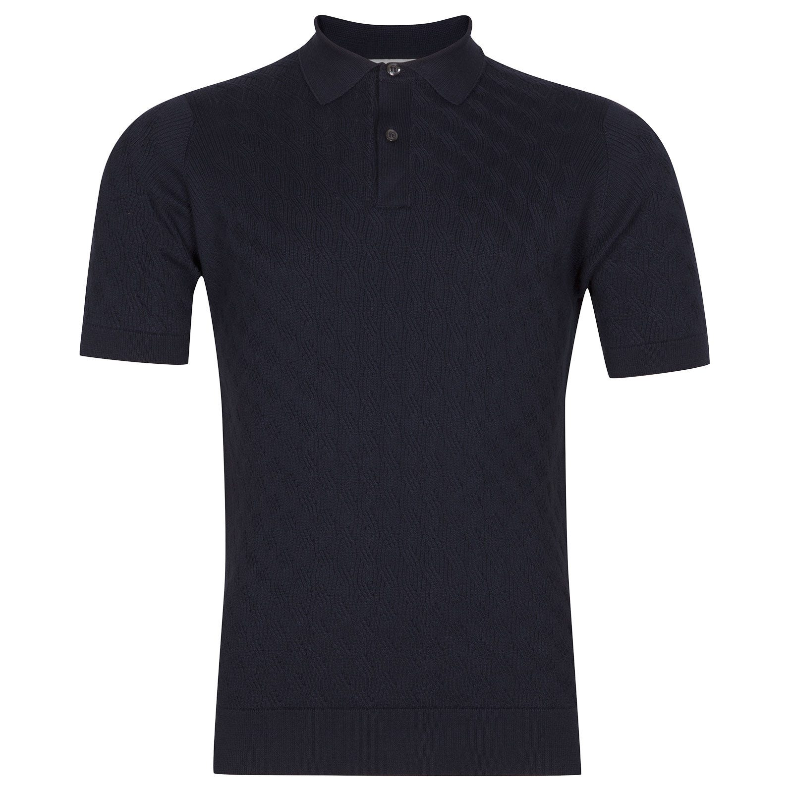 John Smedley Popplewell in Navy Shirt-XLG