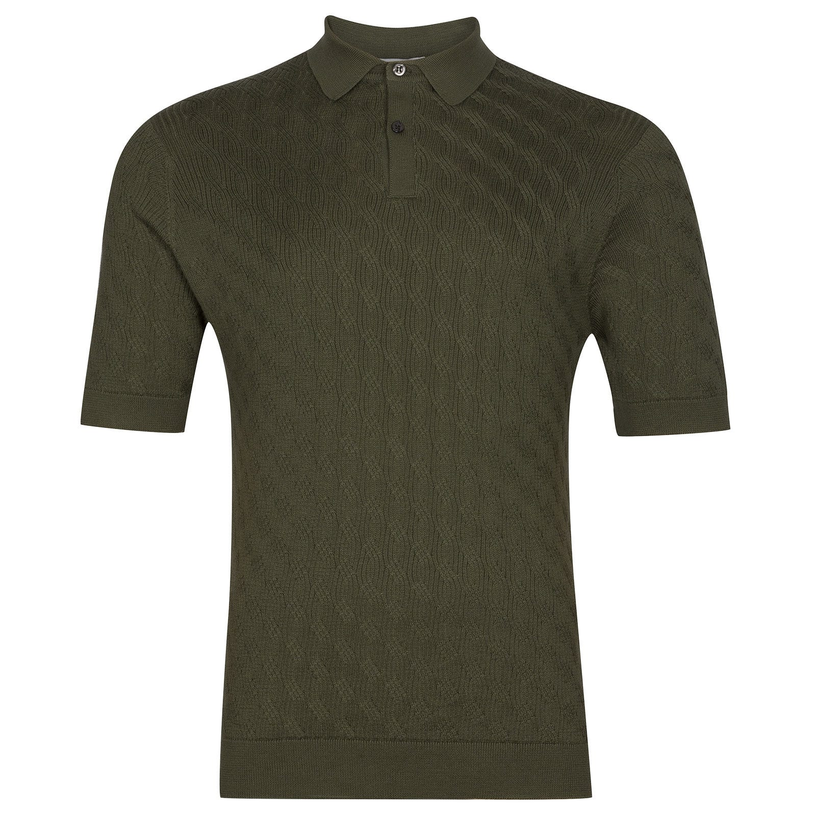 John Smedley Popplewell in Sepal Green Shirt-SML
