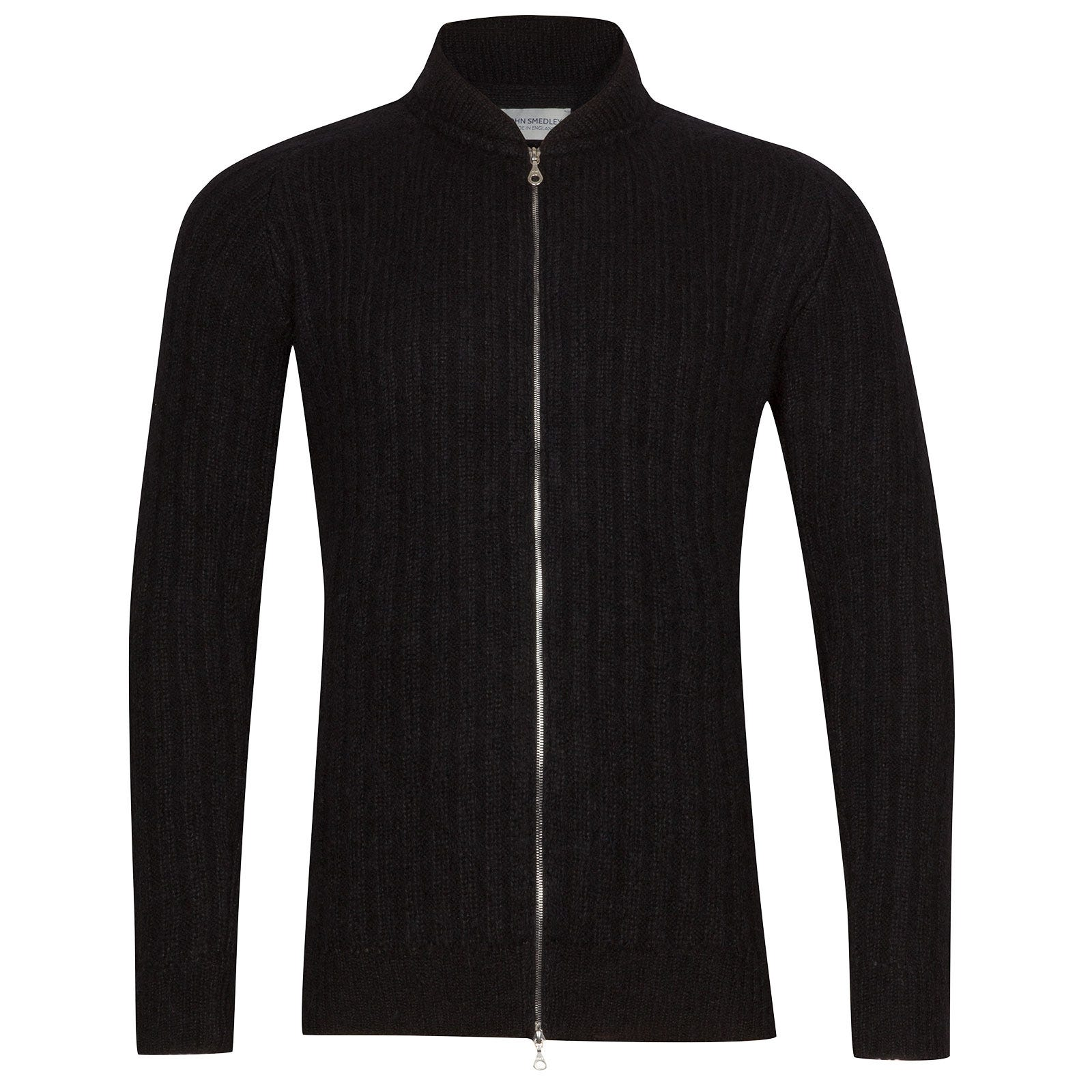 John Smedley Power Viscose Blend Jacket In Black-XL