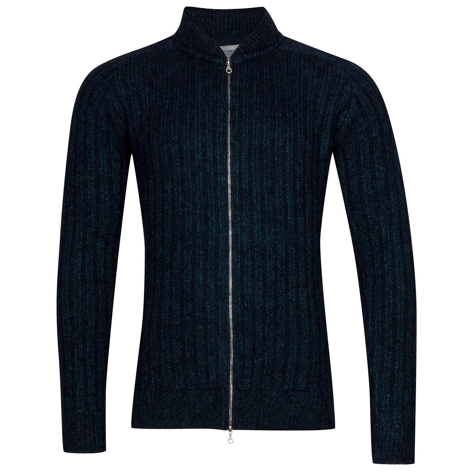 John Smedley Power Viscose Blend Jacket In Boron Green-L