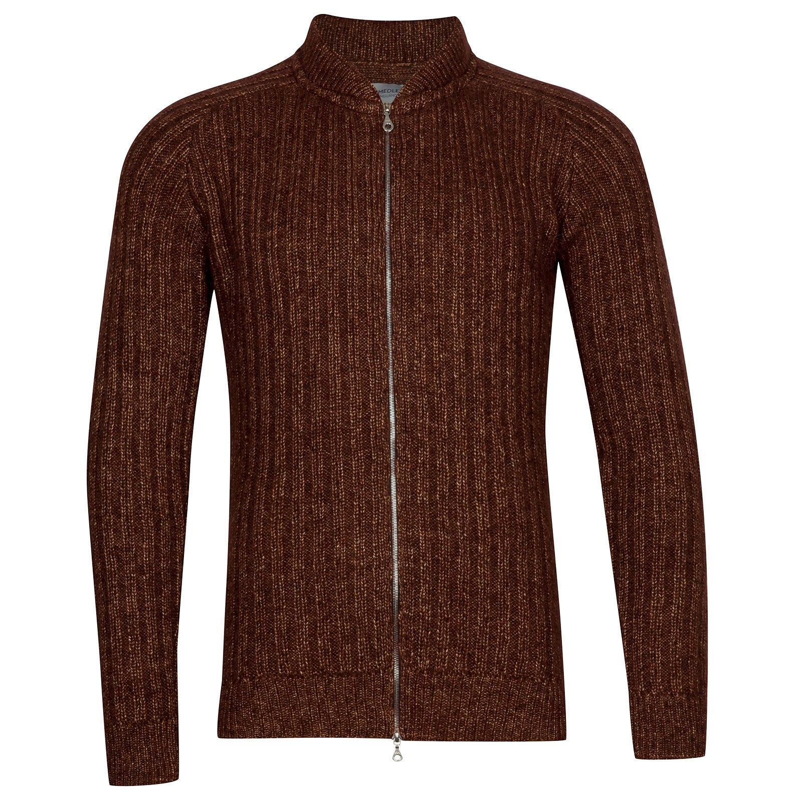 John Smedley Power Viscose Blend Jacket In Bronze-M