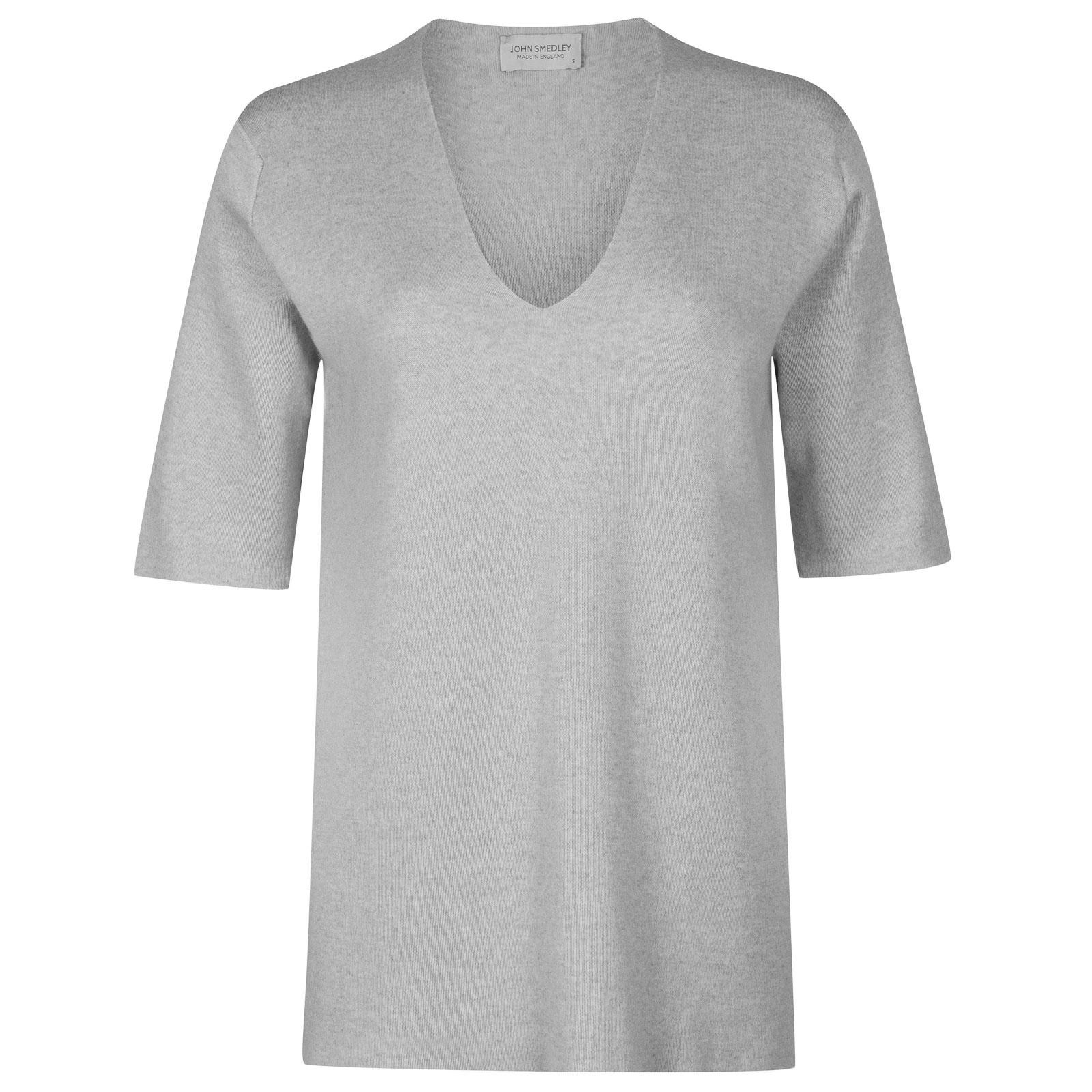 John Smedley purcell Merino Wool Sweater in Bardot Grey-L