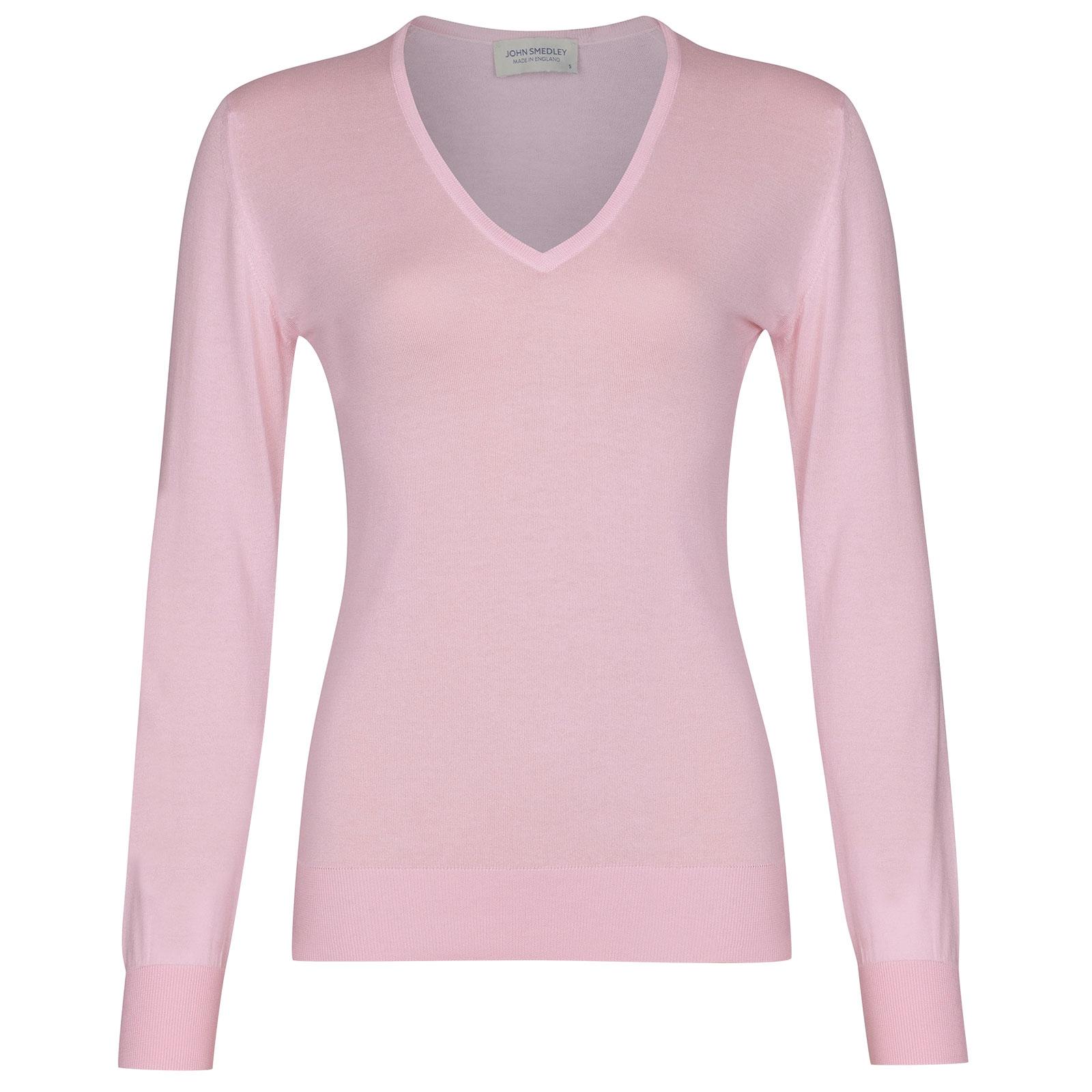 John Smedley Putney in Pink Blossom Sweater-MED