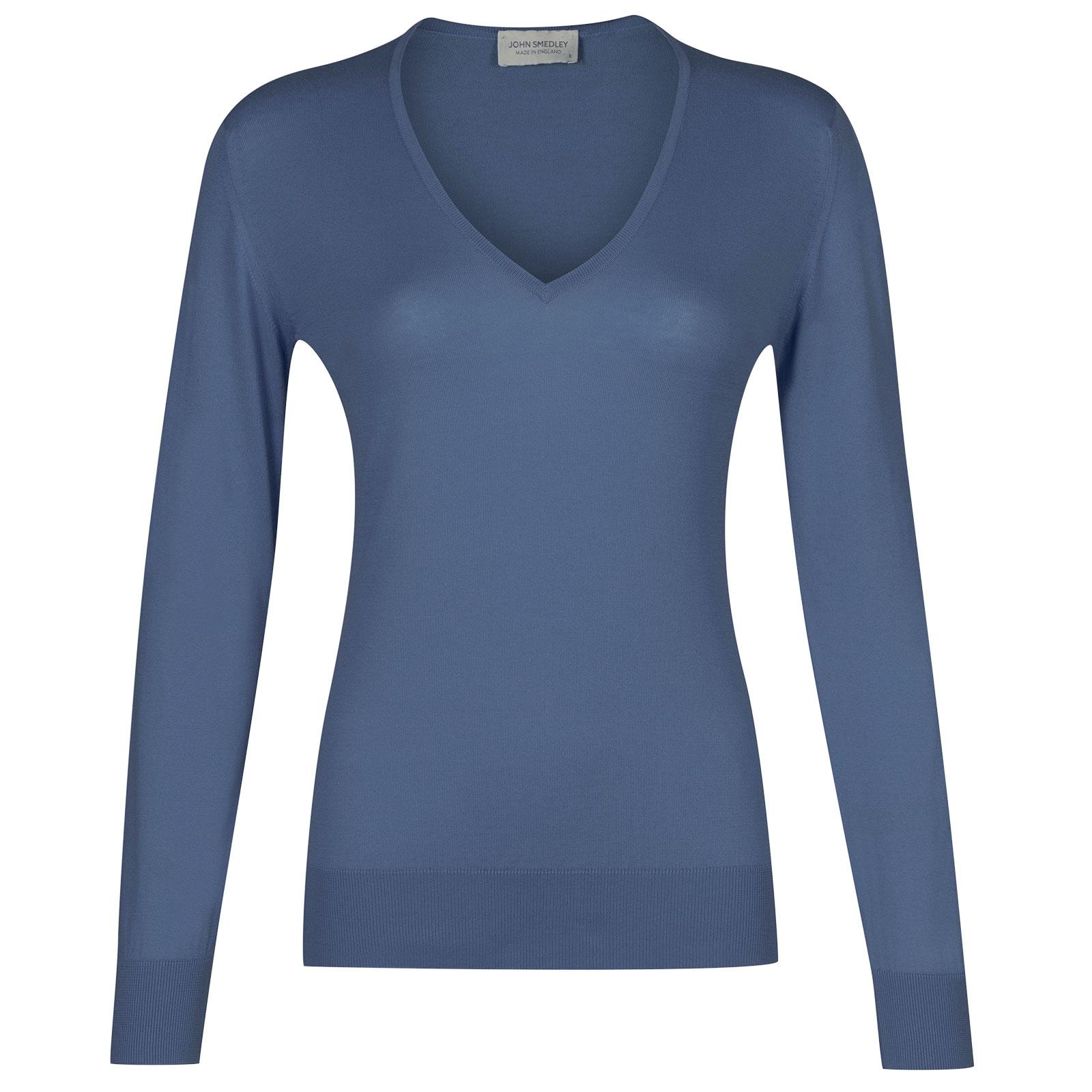 John Smedley Putney in Blue Iris Sweater-LGE