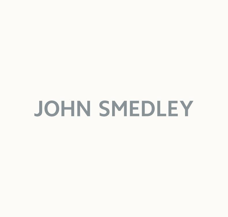 John Smedley putney Sea Island Cotton Sweater in Silver-M