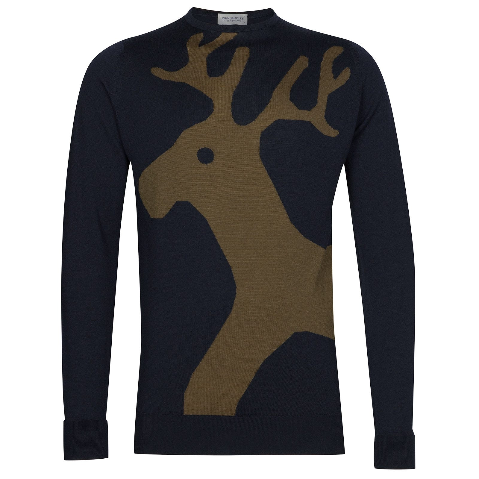 John Smedley Raoul Extra Fine Merino Pullover in Racing Green-M