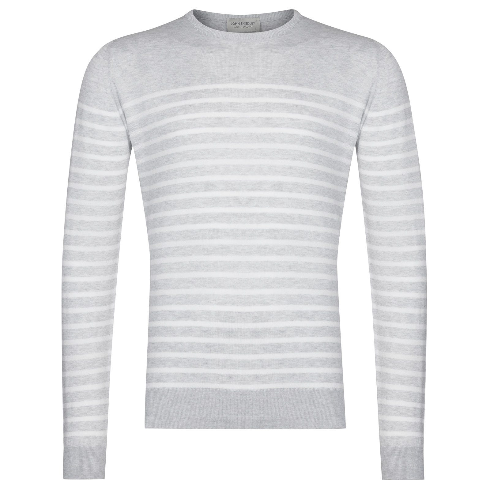 John Smedley Redfree Pullover in Feather Grey -M