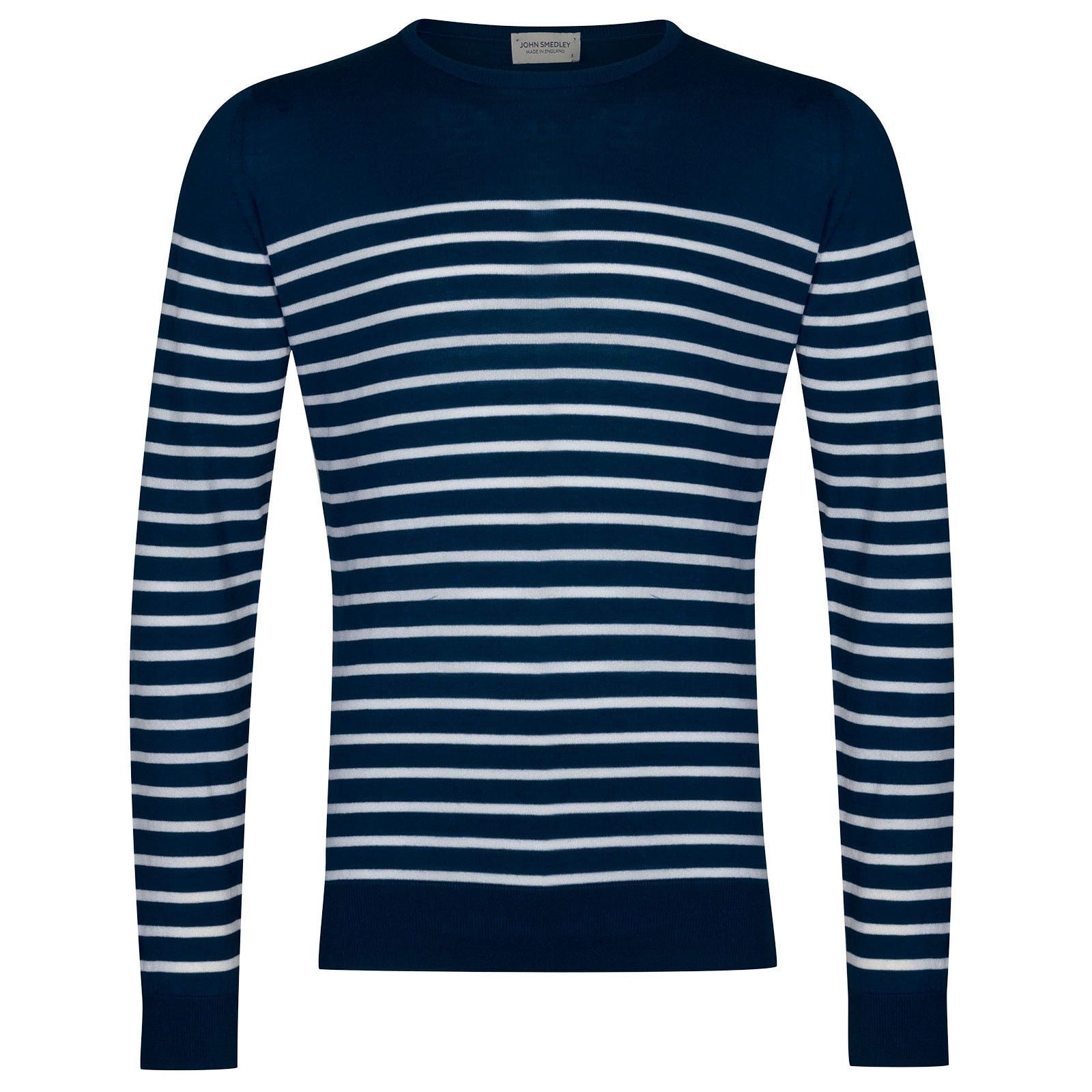 John Smedley Redfree Sea Island Cotton Pullover in Indigo-M