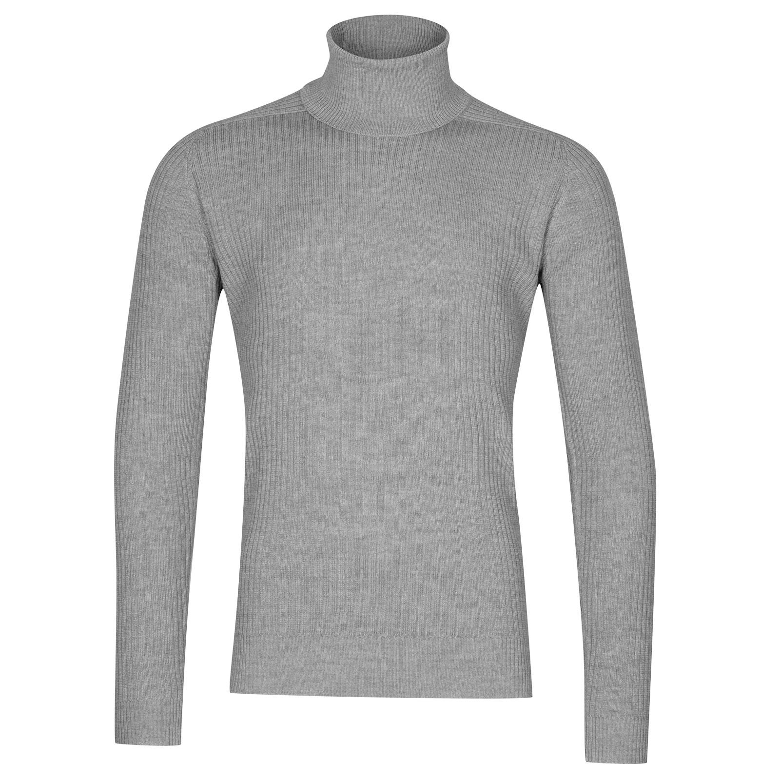 John Smedley redmayne Merino Wool Pullover in Bardot Grey-XXL