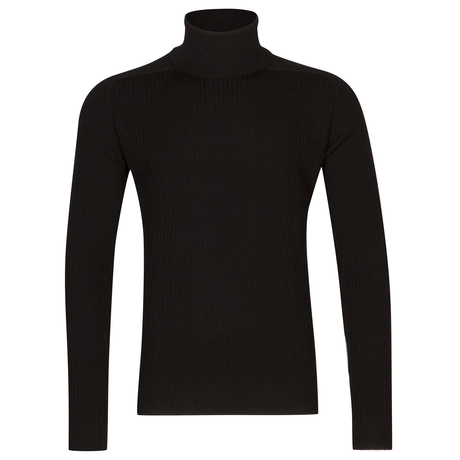 John Smedley redmayne Merino Wool Pullover in Black-XL