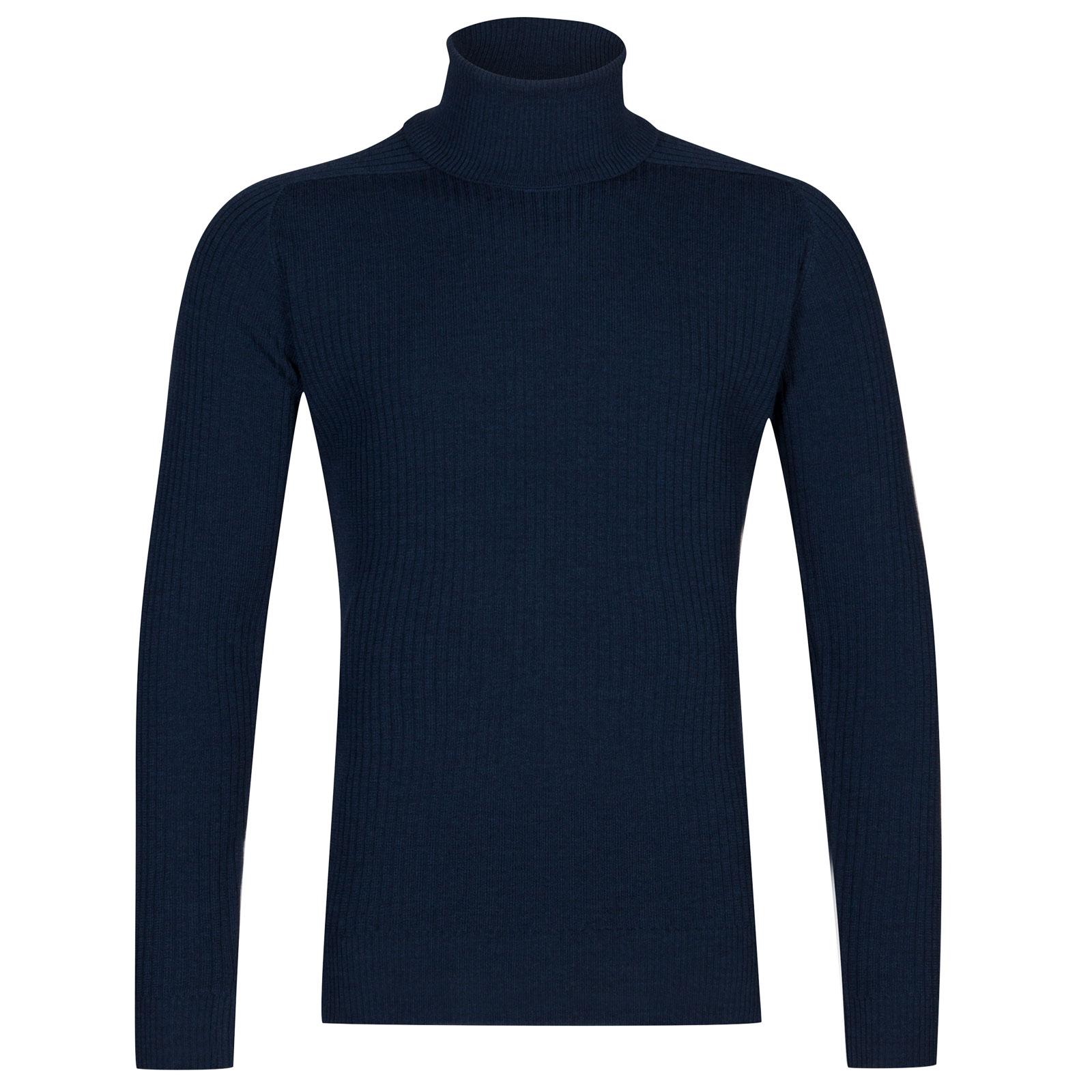 John Smedley redmayne Merino Wool Pullover in Indigo-L
