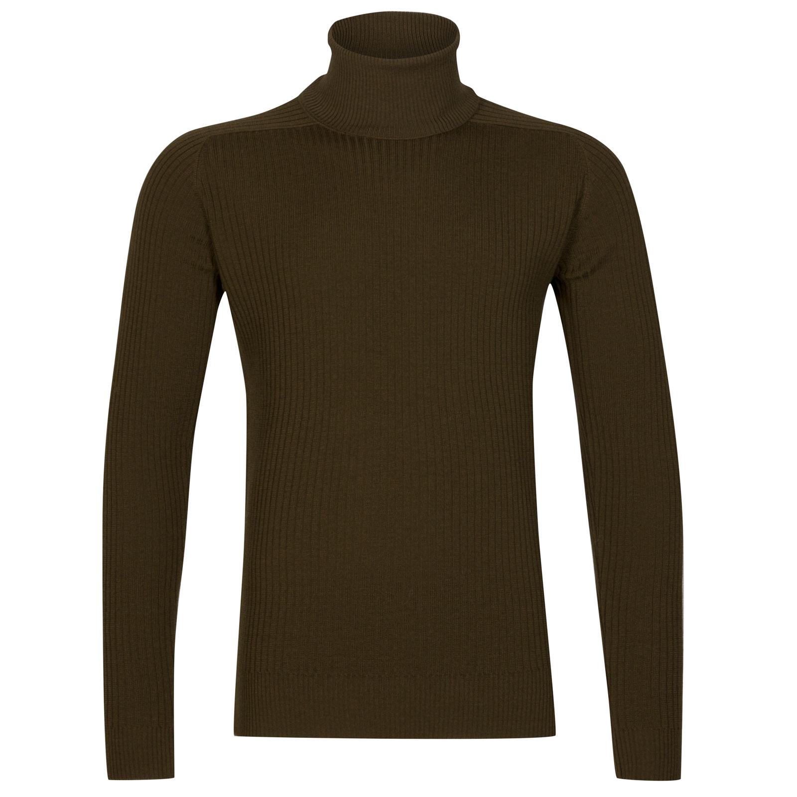 John Smedley redmayne Merino Wool Pullover in Kielder Green-L