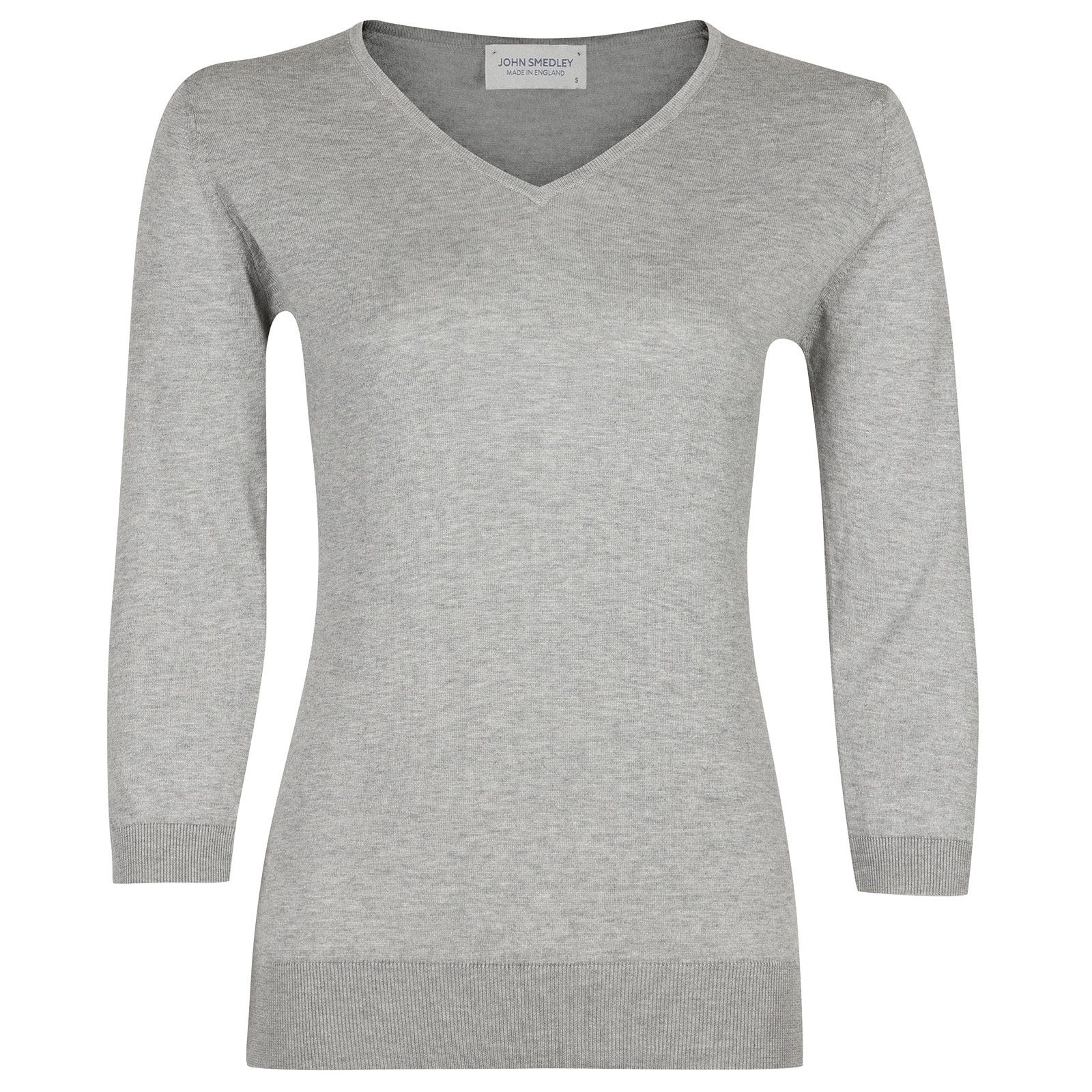 John Smedley Reed in Silver Sweater-LGE