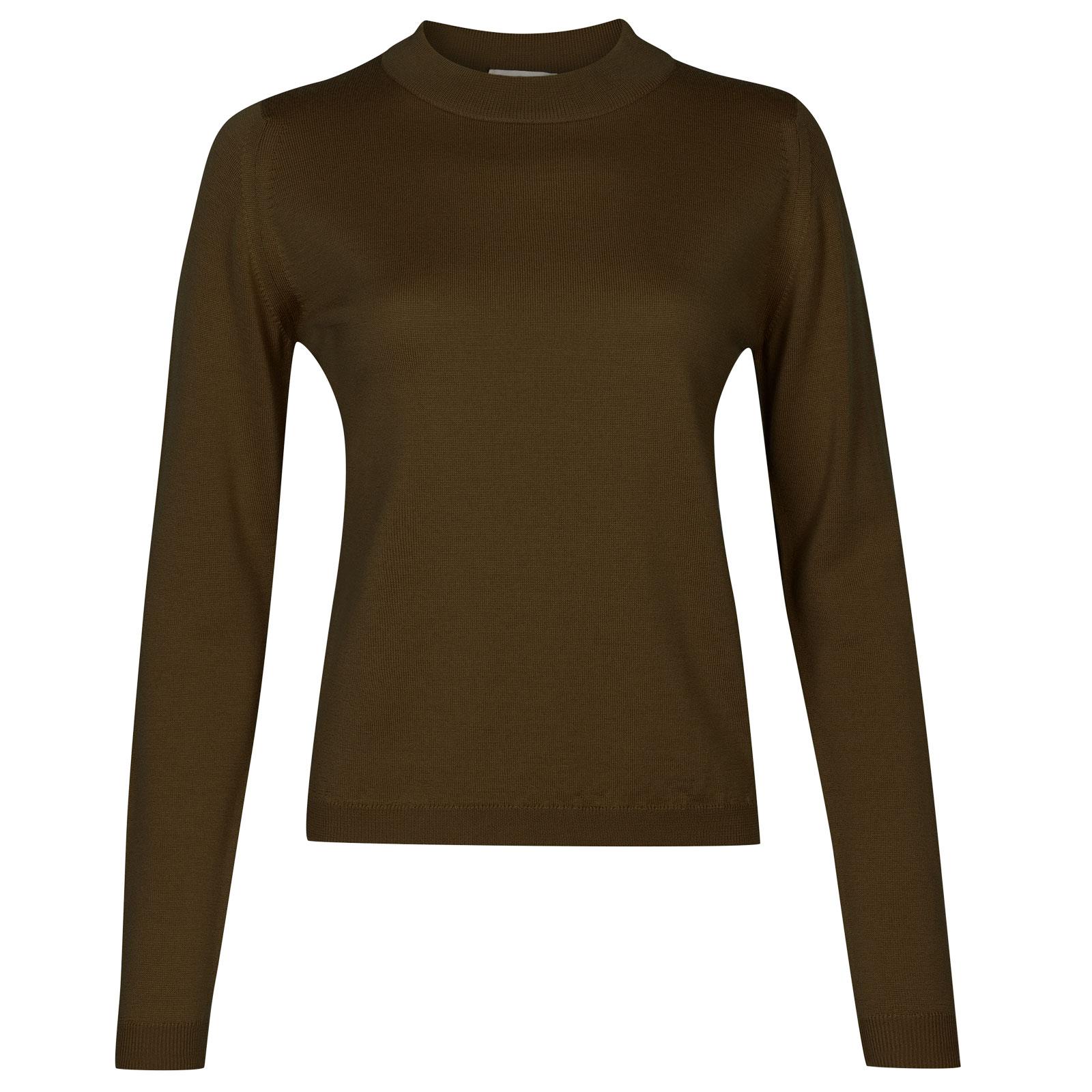 John Smedley renata Merino Wool Sweater in Kielder Green-S