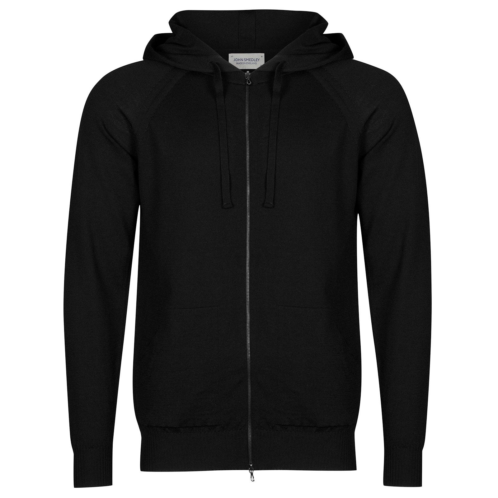 John Smedley Reservoir Merino Wool Jacket in Black-L