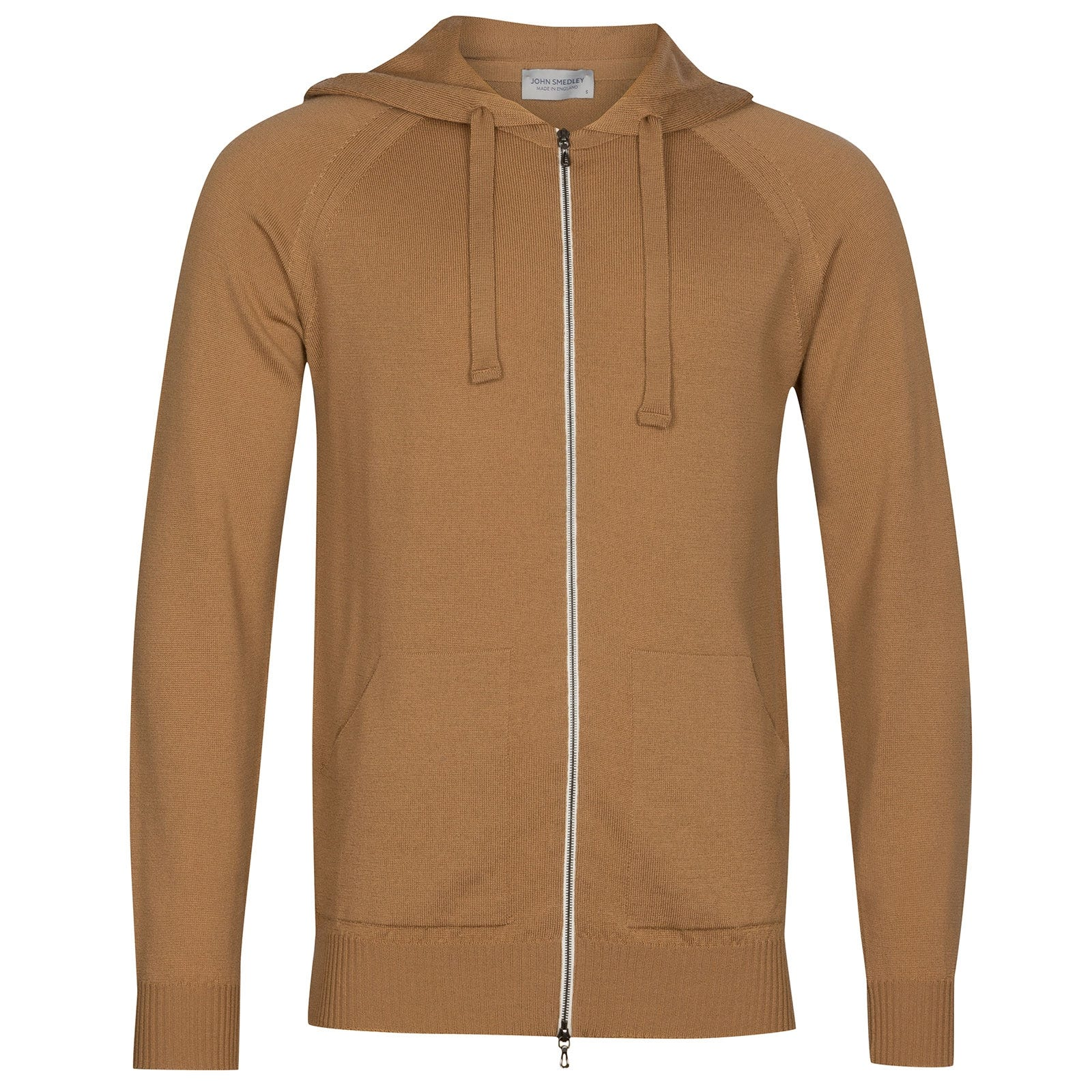 John Smedley Reservoir Merino Wool Jacket in Camel-XL