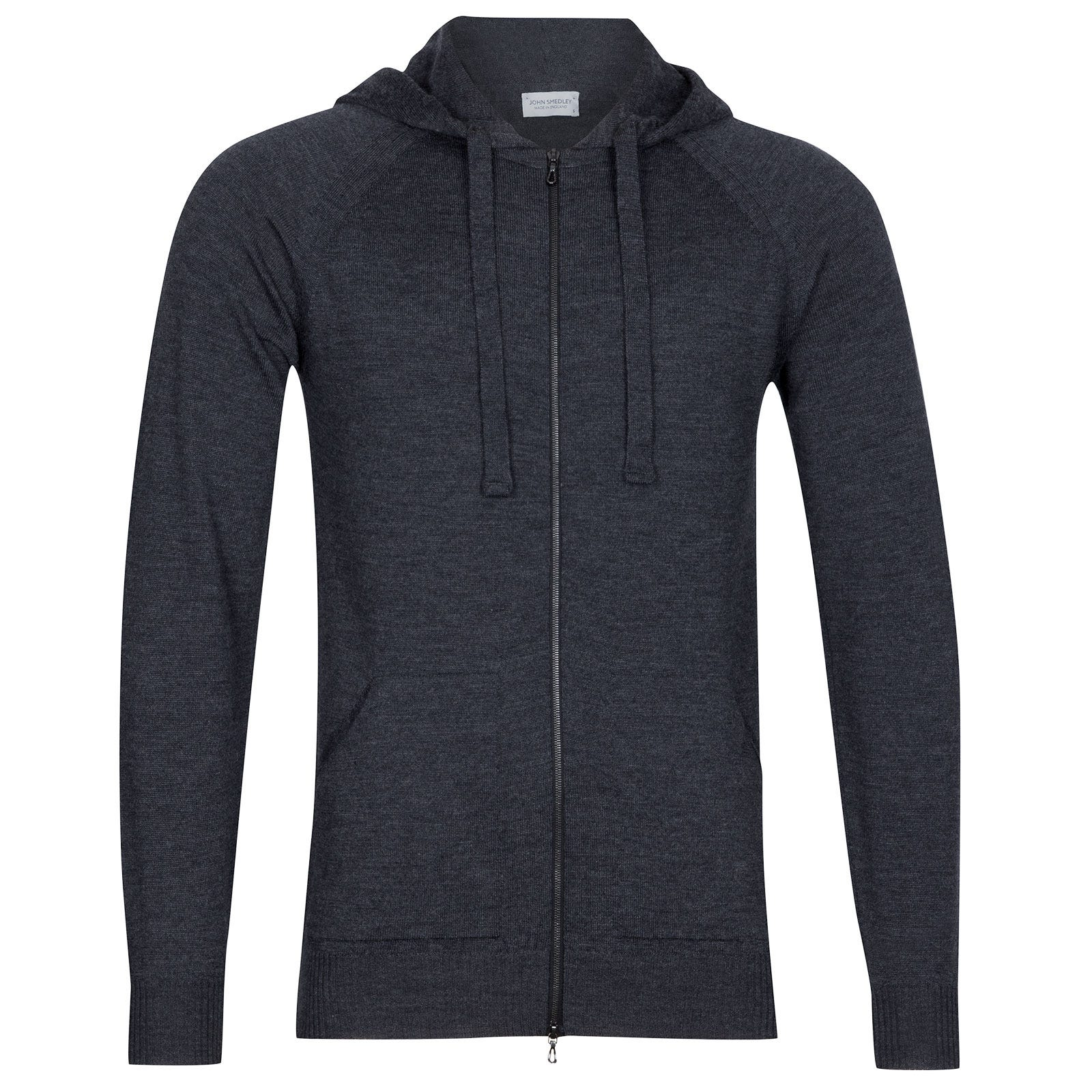 John Smedley Reservoir Merino Wool Jacket in Charcoal-S