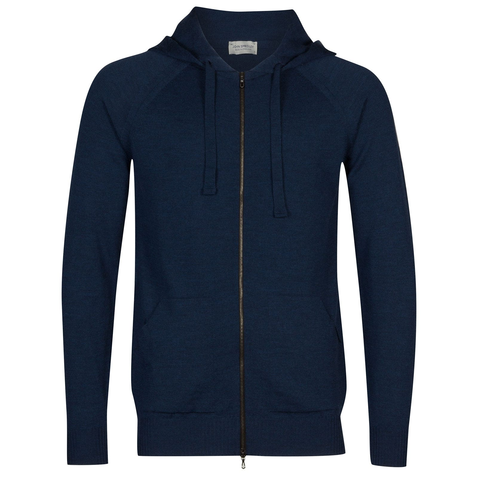 John Smedley Reservoir Merino Wool Jacket in Indigo-XL