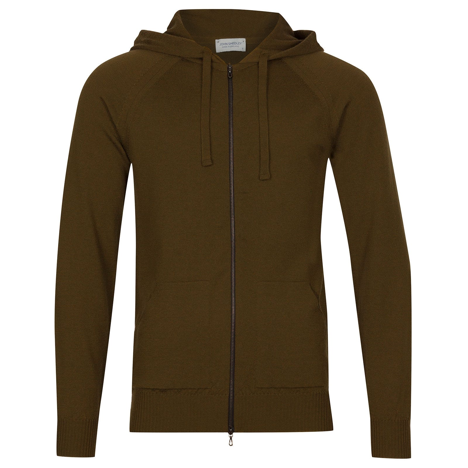 John Smedley Reservoir Merino Wool Jacket in Khaki-XL