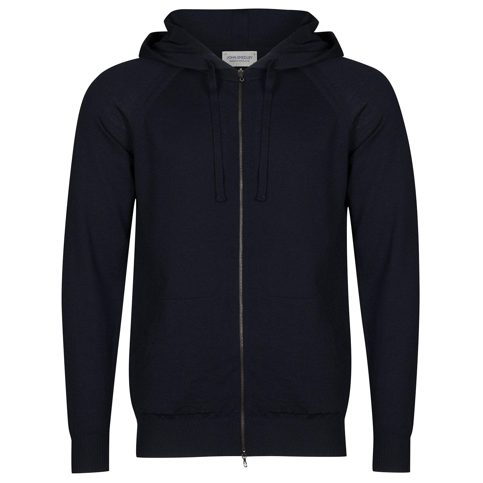 John Smedley Reservoir Merino Wool Jacket in Midnight-M