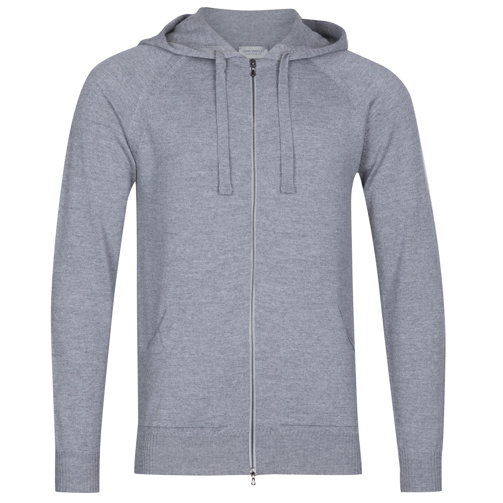 John Smedley Reservoir Merino Wool Jacket in Silver-XL