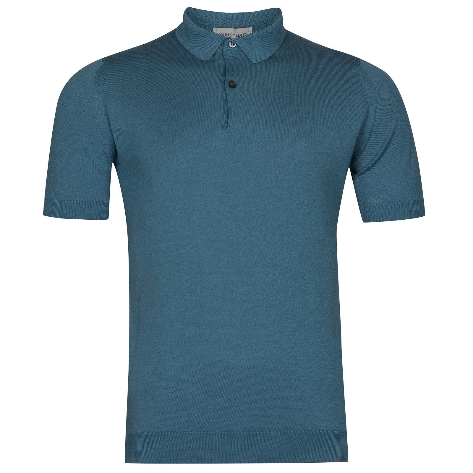 John Smedley Rhodes Sea Island Cotton Shirt in Bias Blue-M