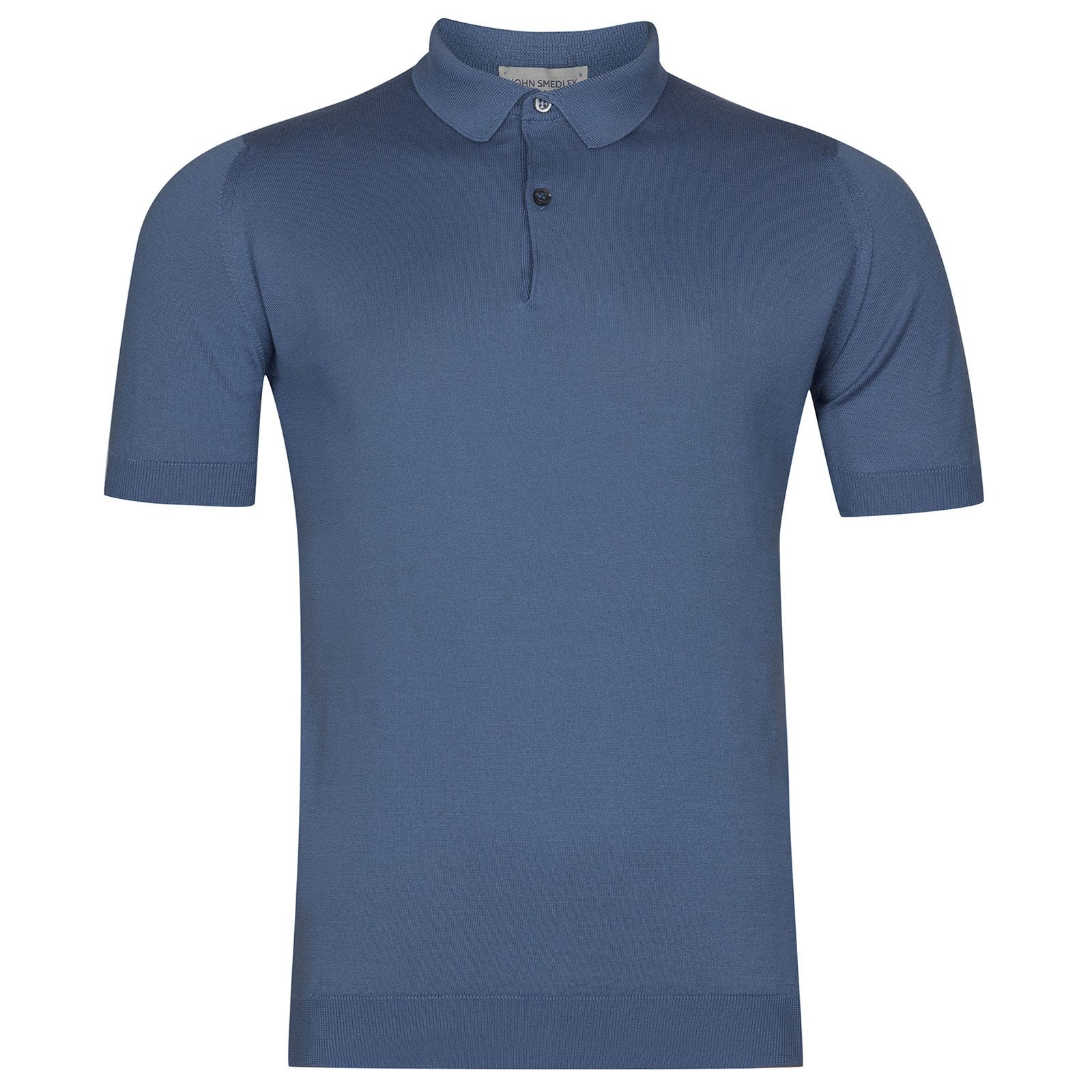 John Smedley Rhodes in Blue Iris Shirt-XXL