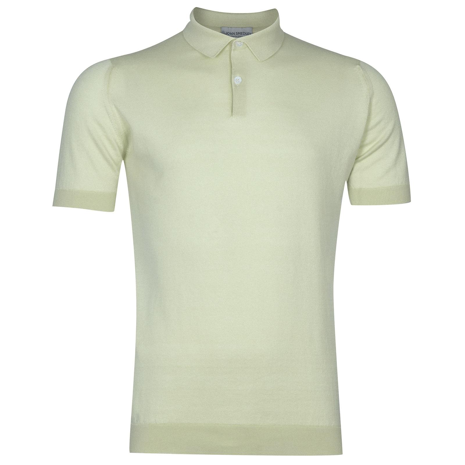 John Smedley Rhodes in Bud Green Shirt-MED