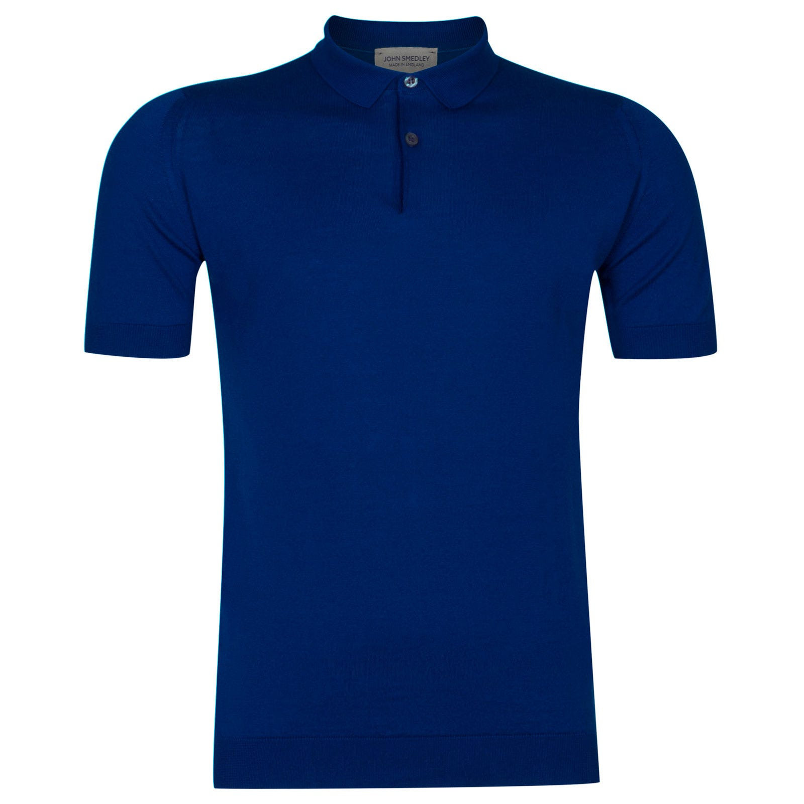 John Smedley rhodes Sea Island Cotton Shirt in Coniston Blue-M